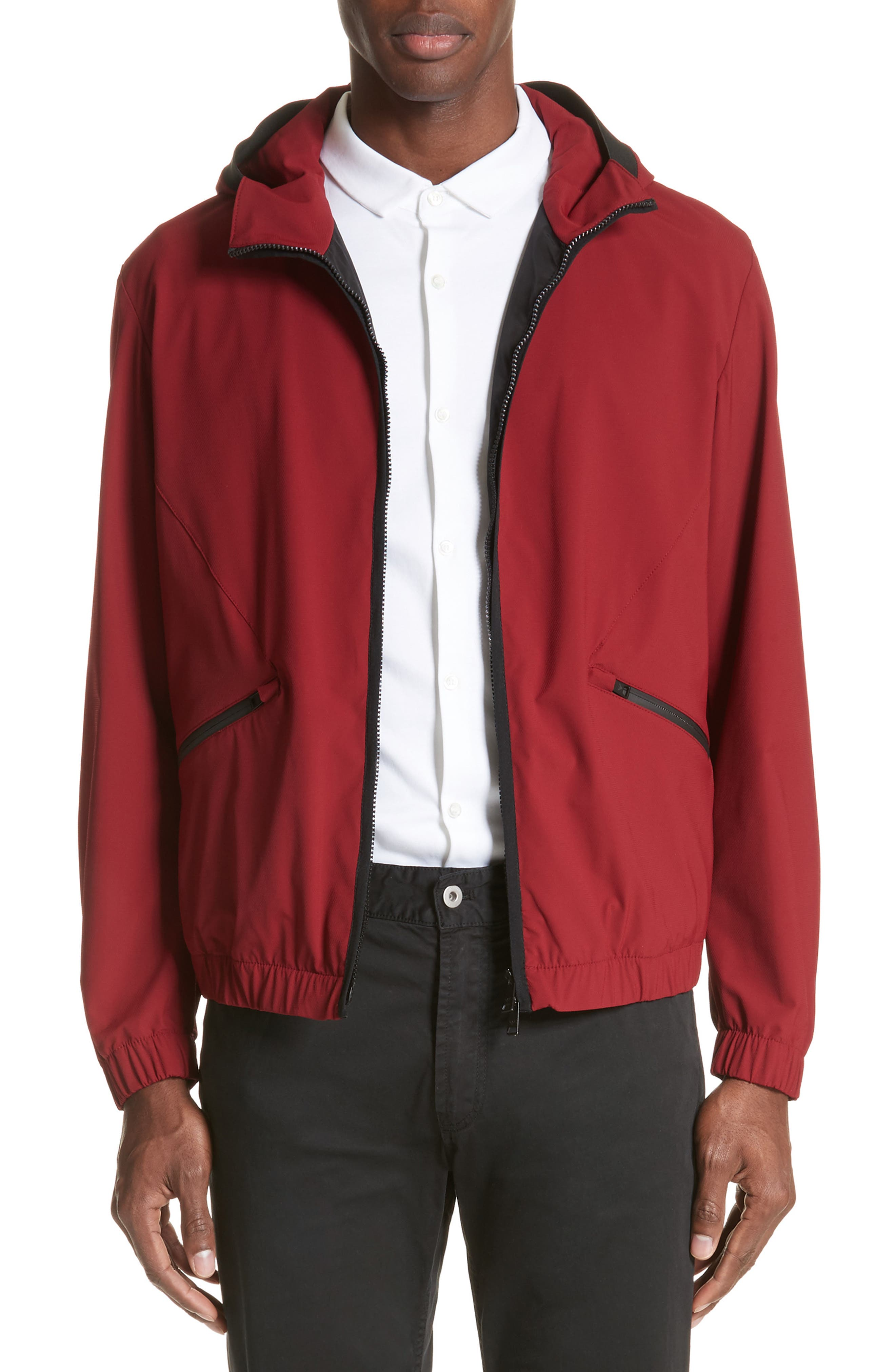 Water Repellent Jacket,                             Main thumbnail 1, color,                             Red