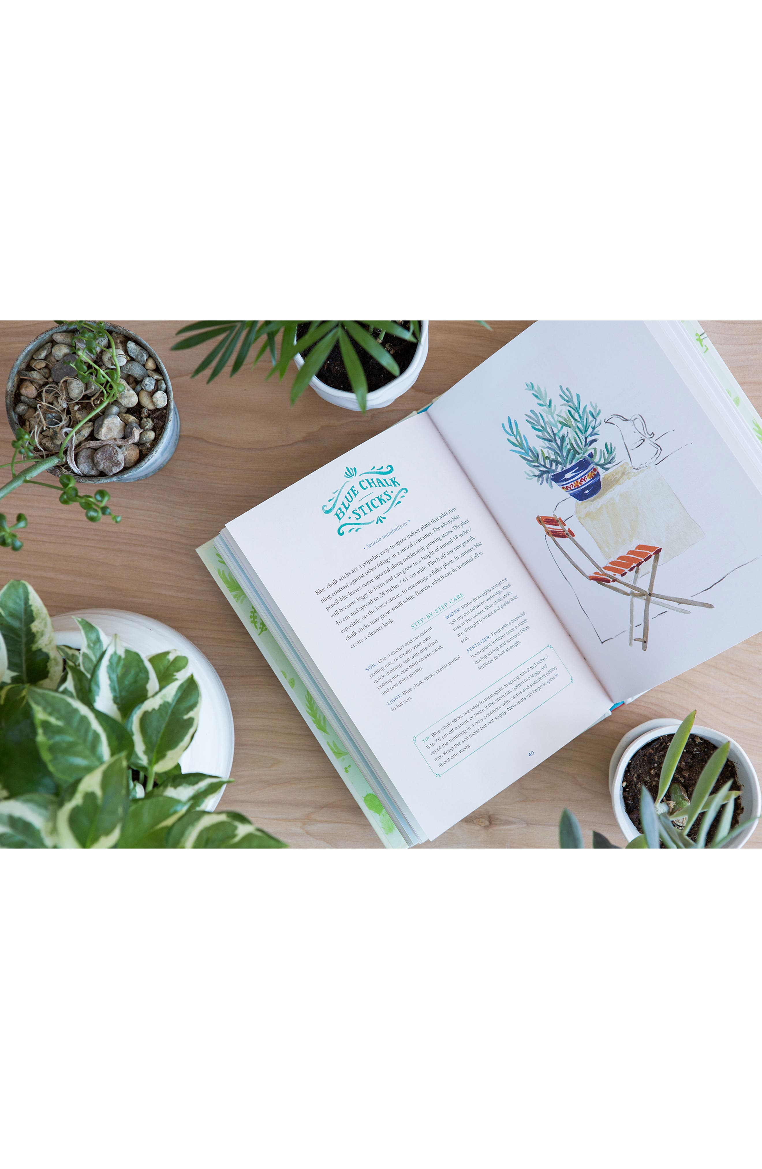 'Happy Houseplants: 30 Lovely Varieties to Brighten Up Your Home' Book,                             Alternate thumbnail 2, color,                             Green
