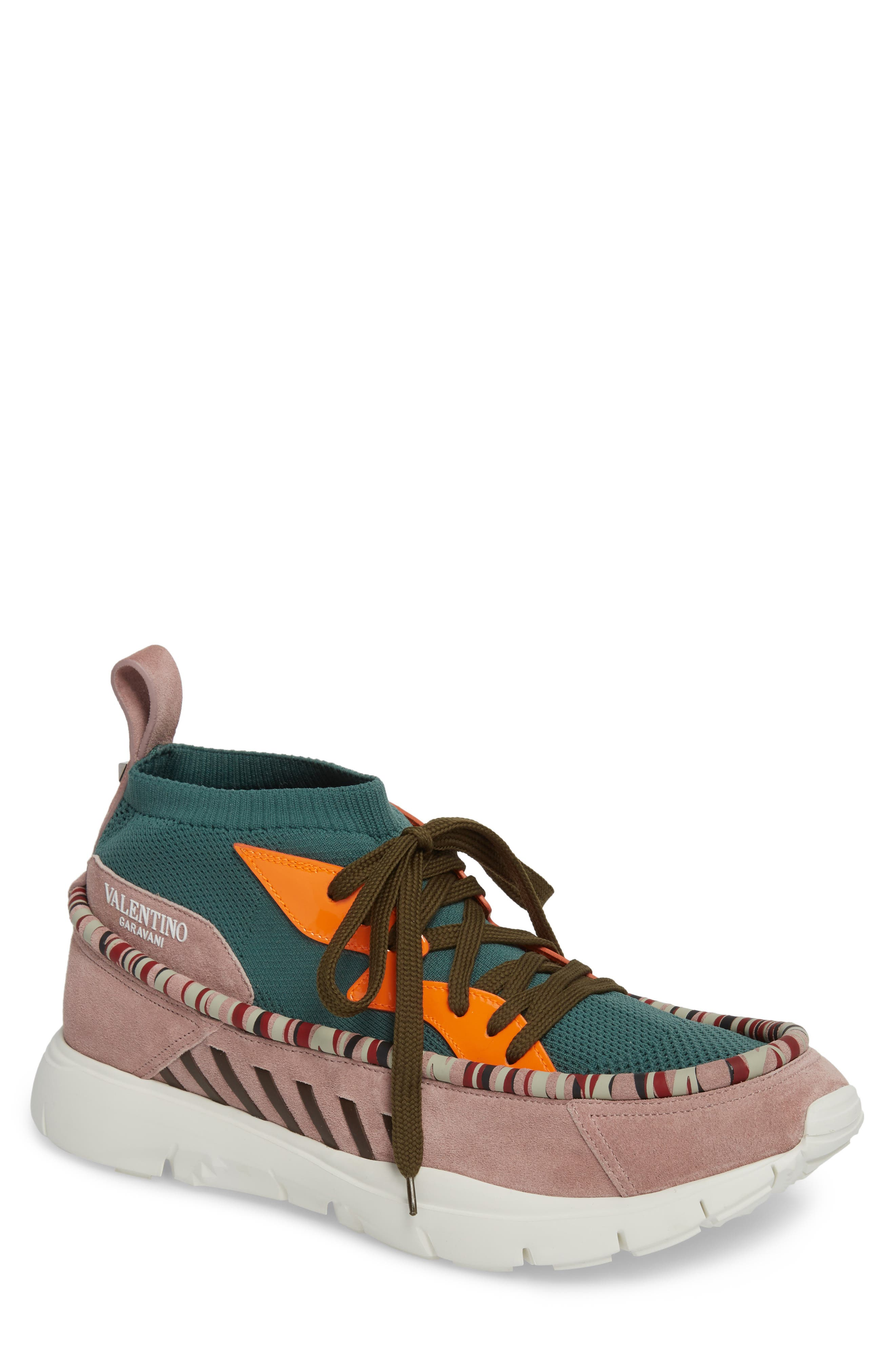 Heroes Sneaker,                         Main,                         color, Olive/ Lipstick