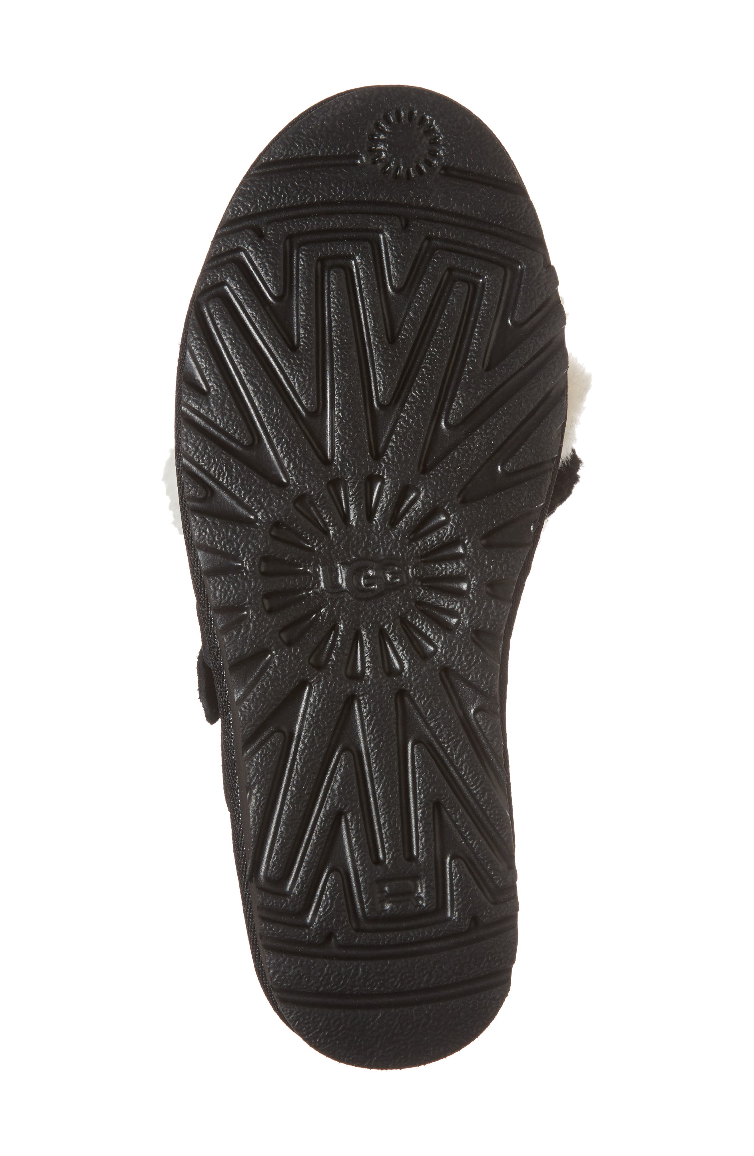 Clio Pom Pom Slide Sandal,                             Alternate thumbnail 6, color,                             Black Suede