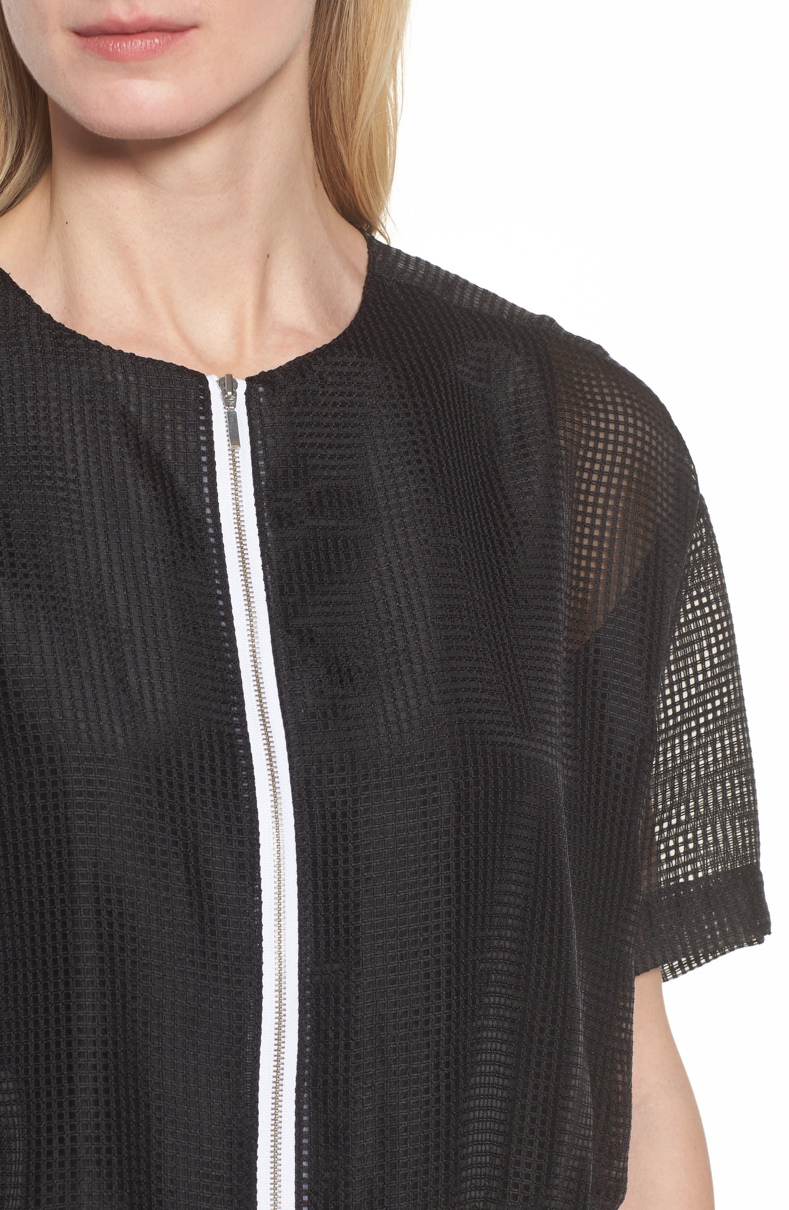 Mesh Jacket,                             Alternate thumbnail 4, color,                             Black/ White