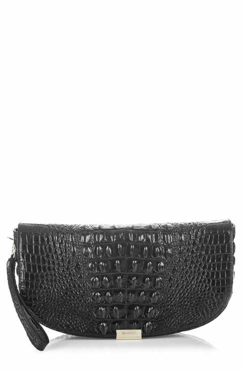 Brahmin Sandrine Croc Embossed Leather Clutch