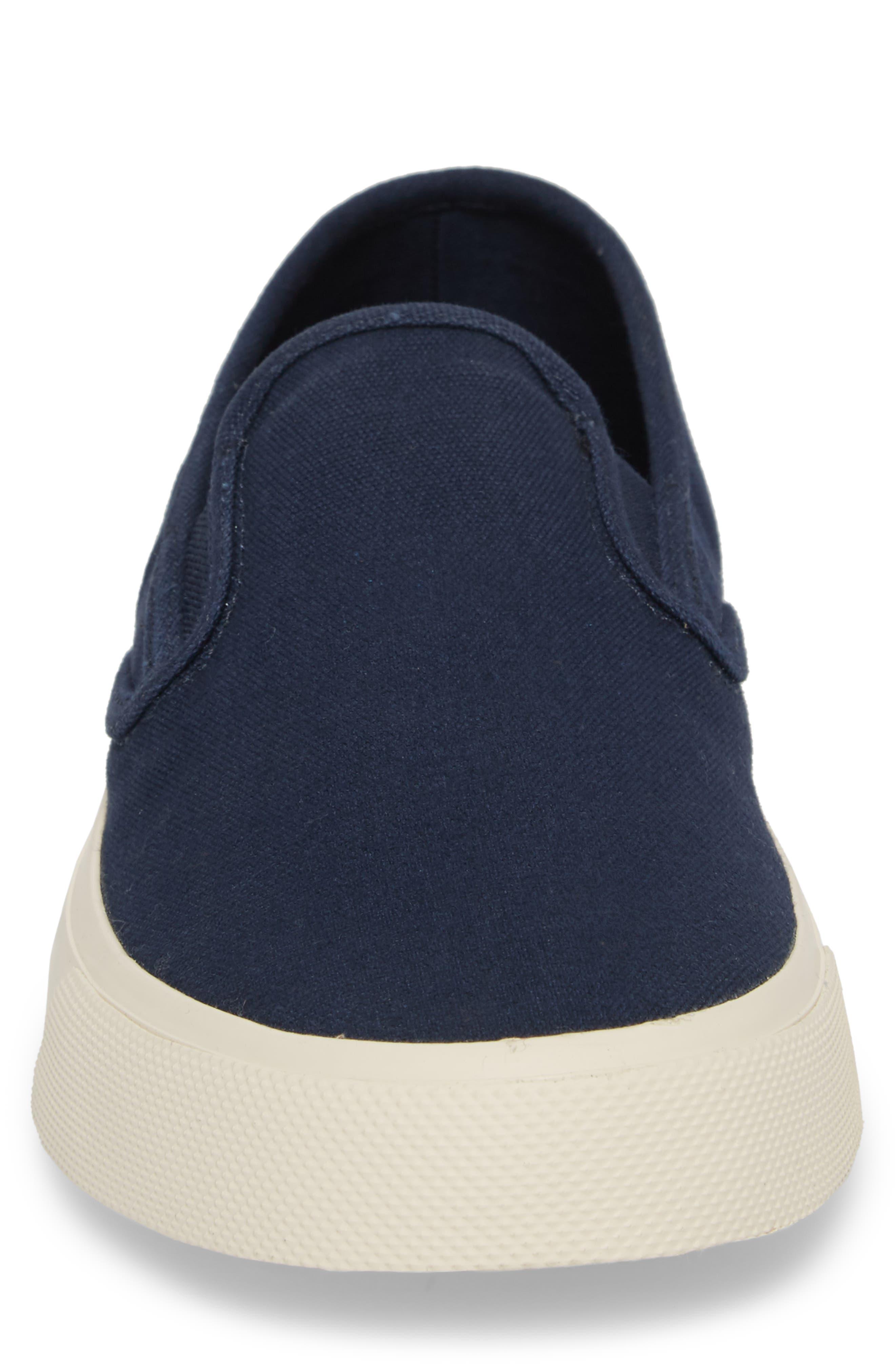 Striper II Slip-On Sneaker,                             Alternate thumbnail 4, color,                             Navy