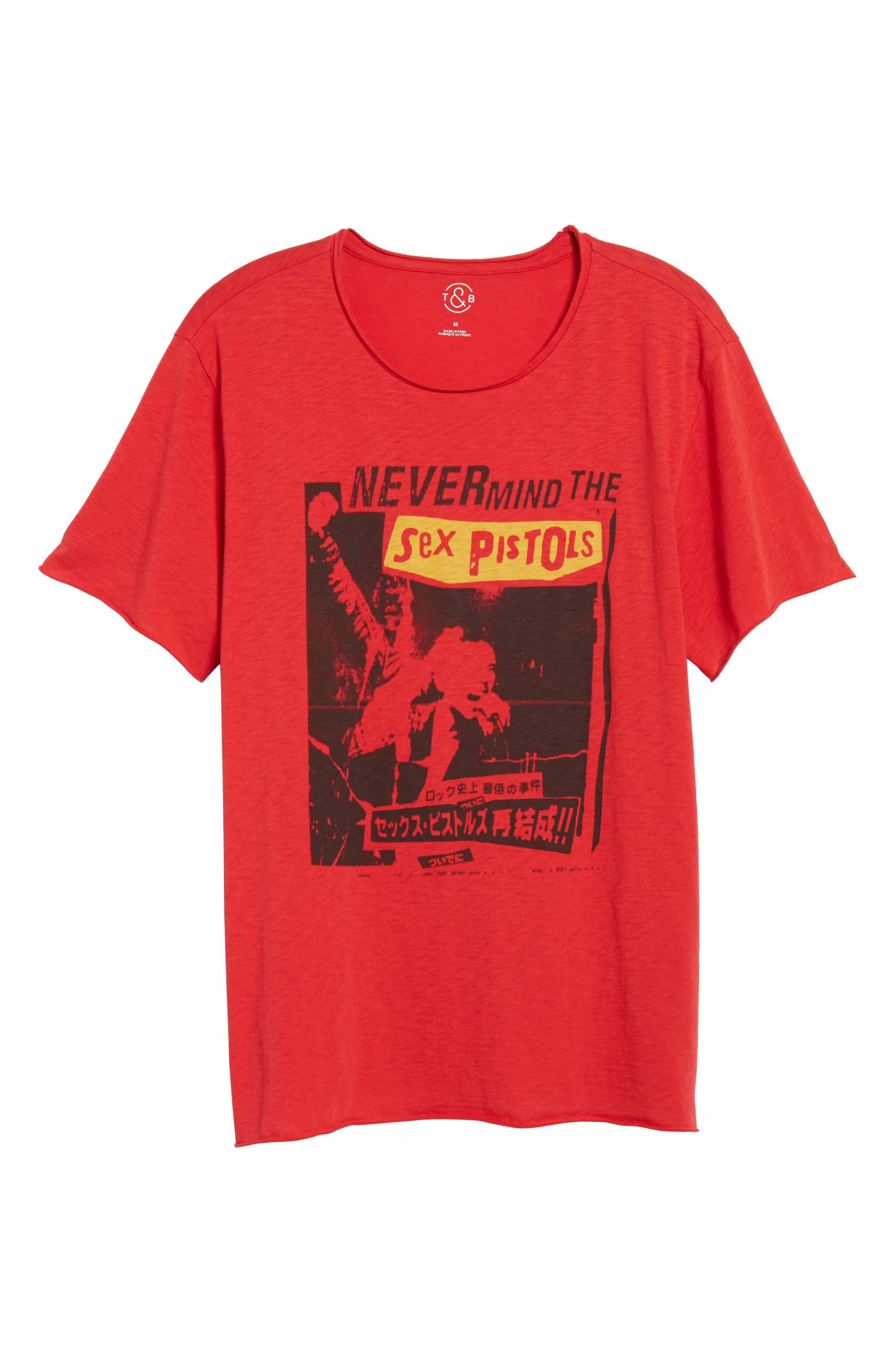 Sex Pistols Crewneck T-Shirt,                             Alternate thumbnail 6, color,                             Red Sex Pistols