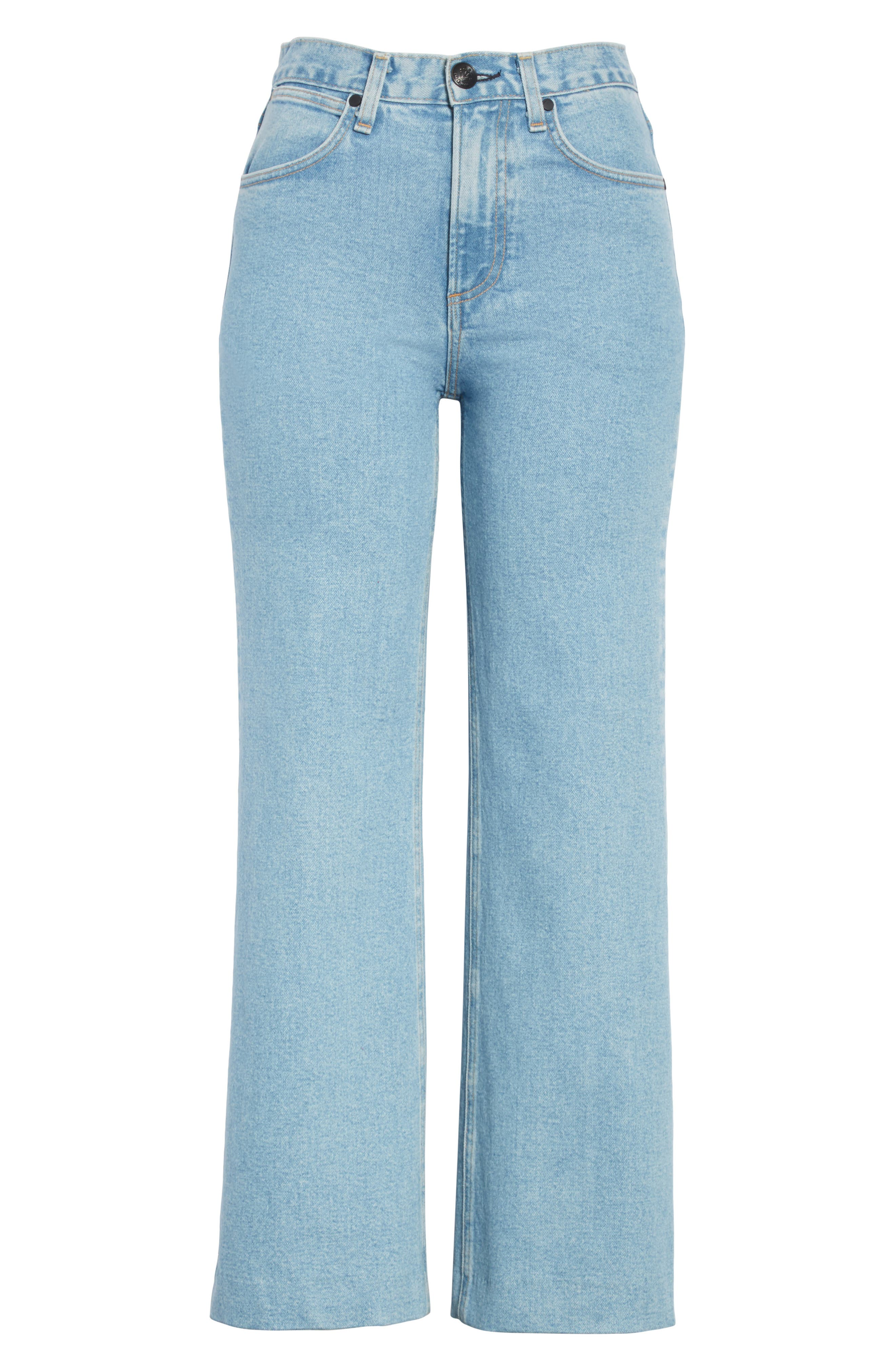 Justine High Waist Wide Leg Trouser Jeans,                             Alternate thumbnail 6, color,                             Broken Nelly