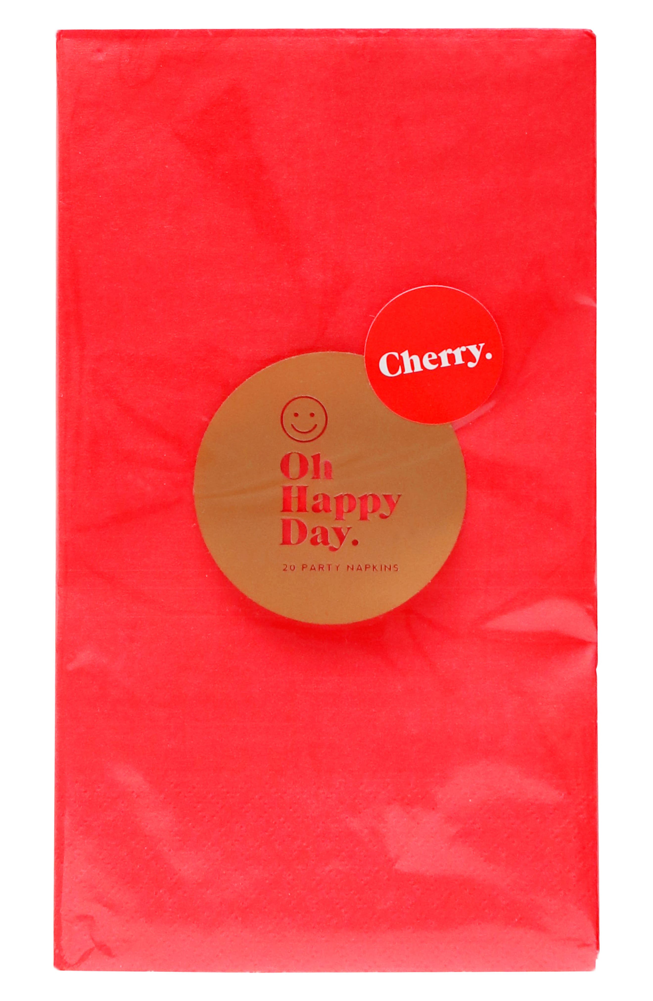 Oh Happy Day Cherry Paper Dinner Napkins