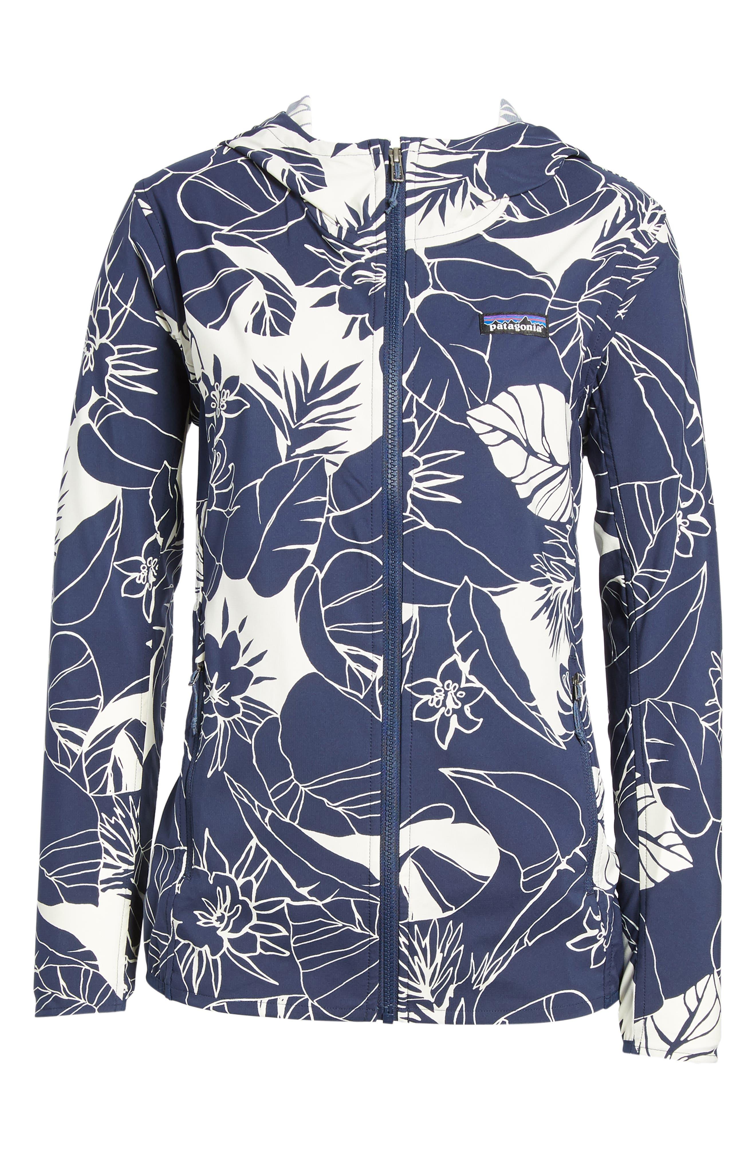 Bajadas Hoodie Jacket,                             Alternate thumbnail 7, color,                             Classic Navy/ Birch White