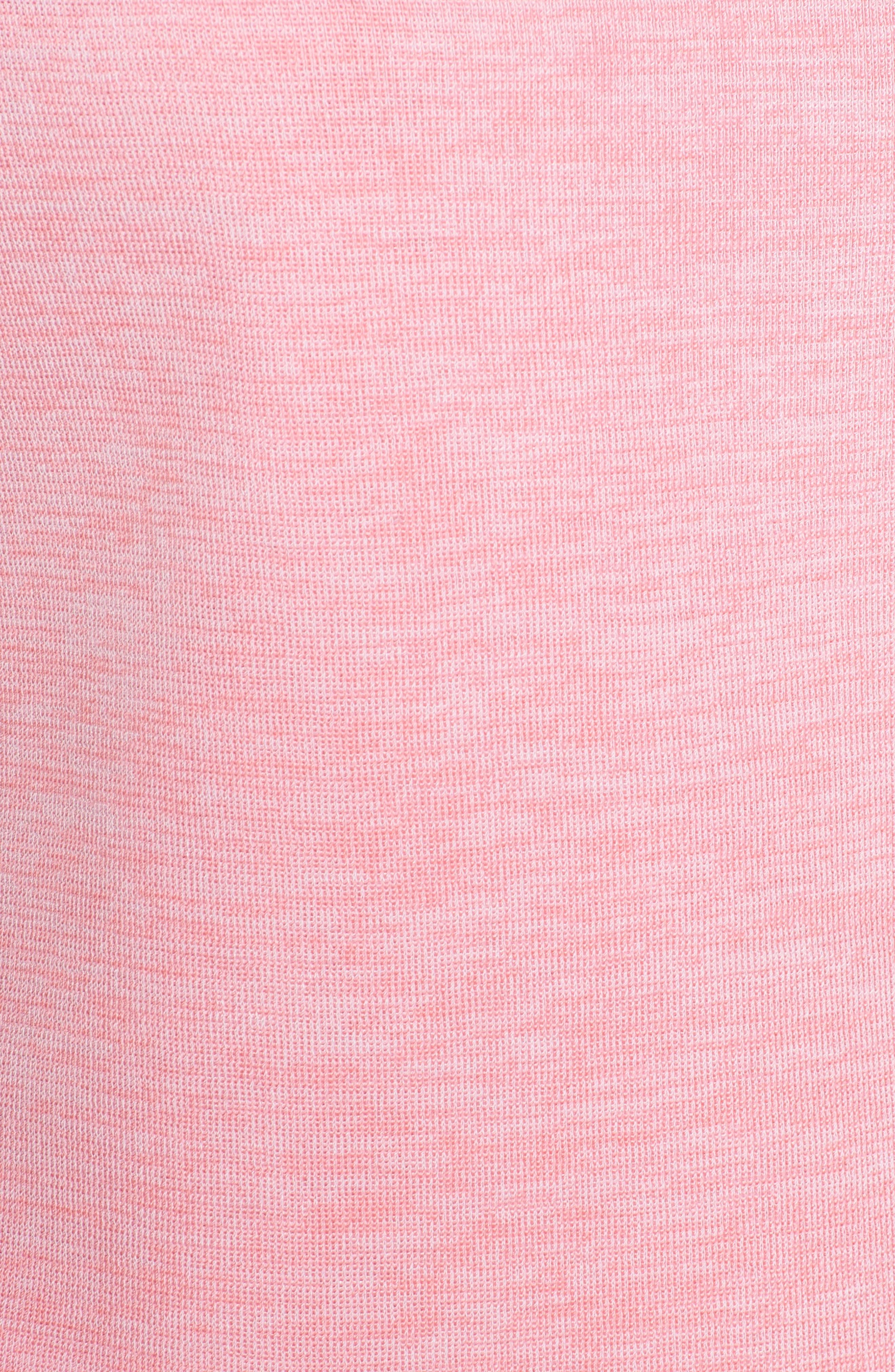 Bateau Neck Tank,                             Alternate thumbnail 5, color,                             White/ Pink Lemonade