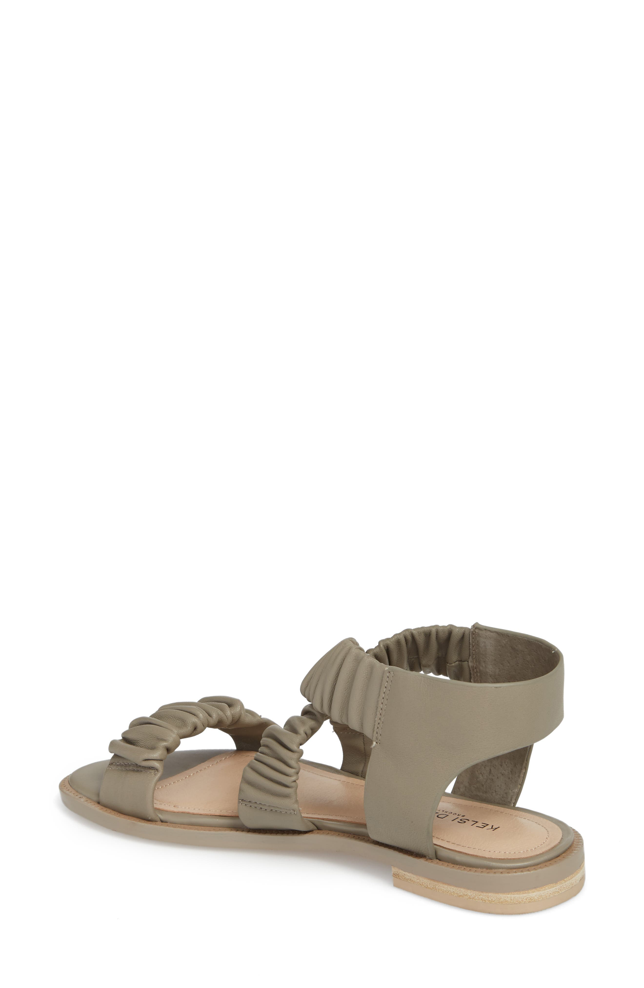 Ryder Pleated Flat Sandal,                             Alternate thumbnail 2, color,                             Clove Leather