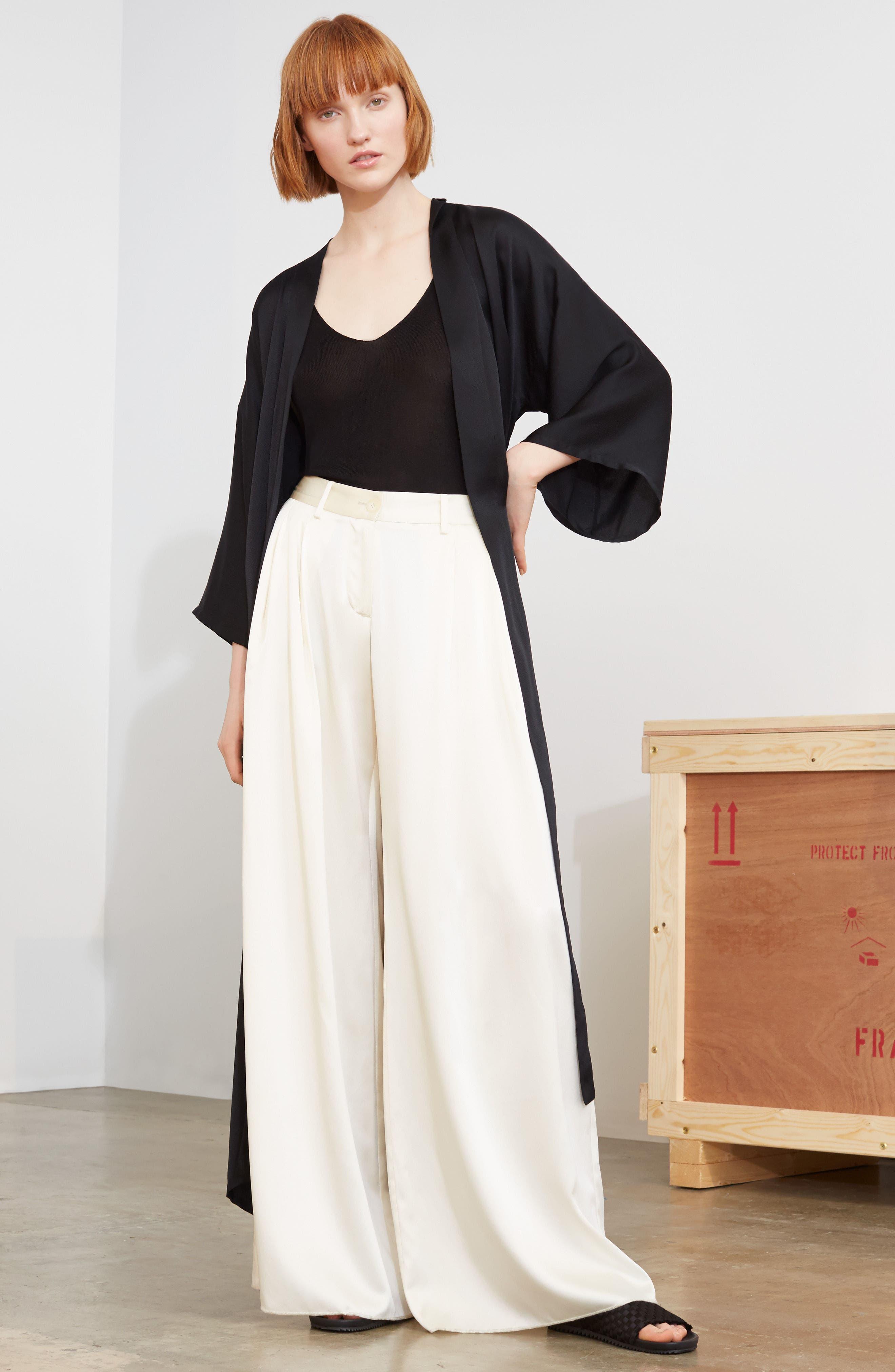 Alternate Image 7  - Nili Lotan Maia Silk Kimono