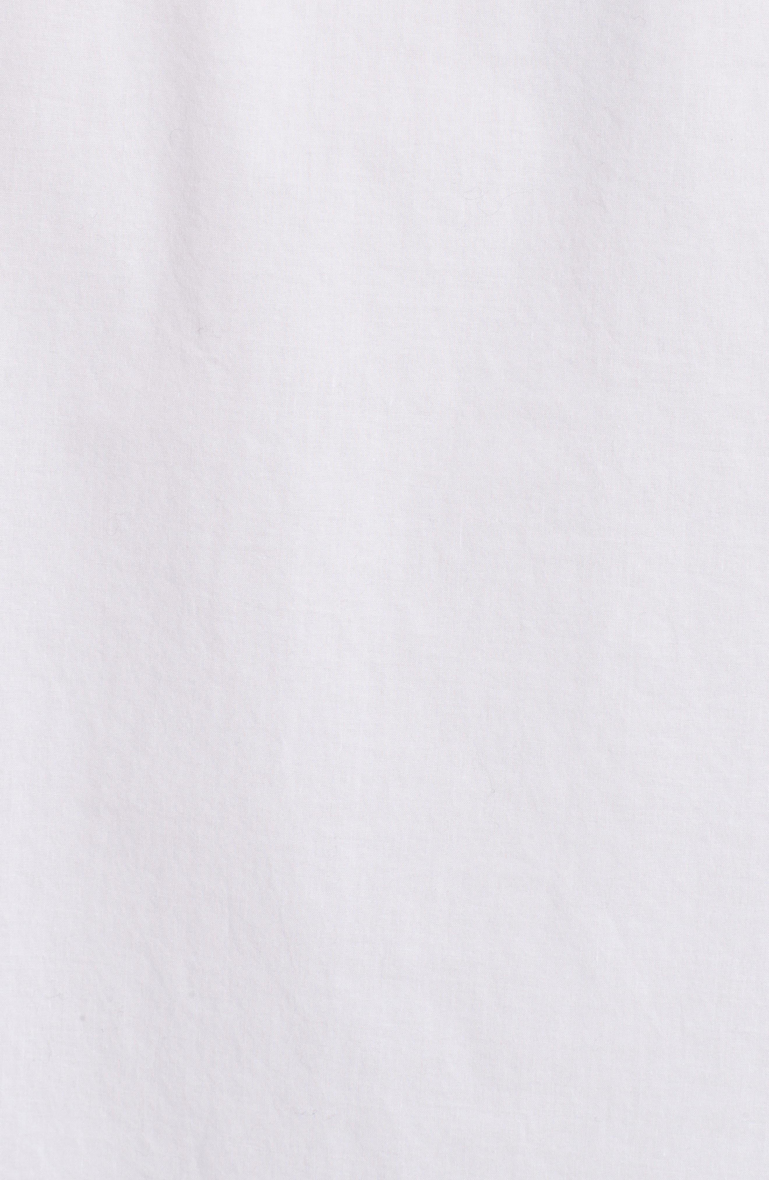 Cotton Poplin Boyfriend Shirt,                             Alternate thumbnail 5, color,                             White