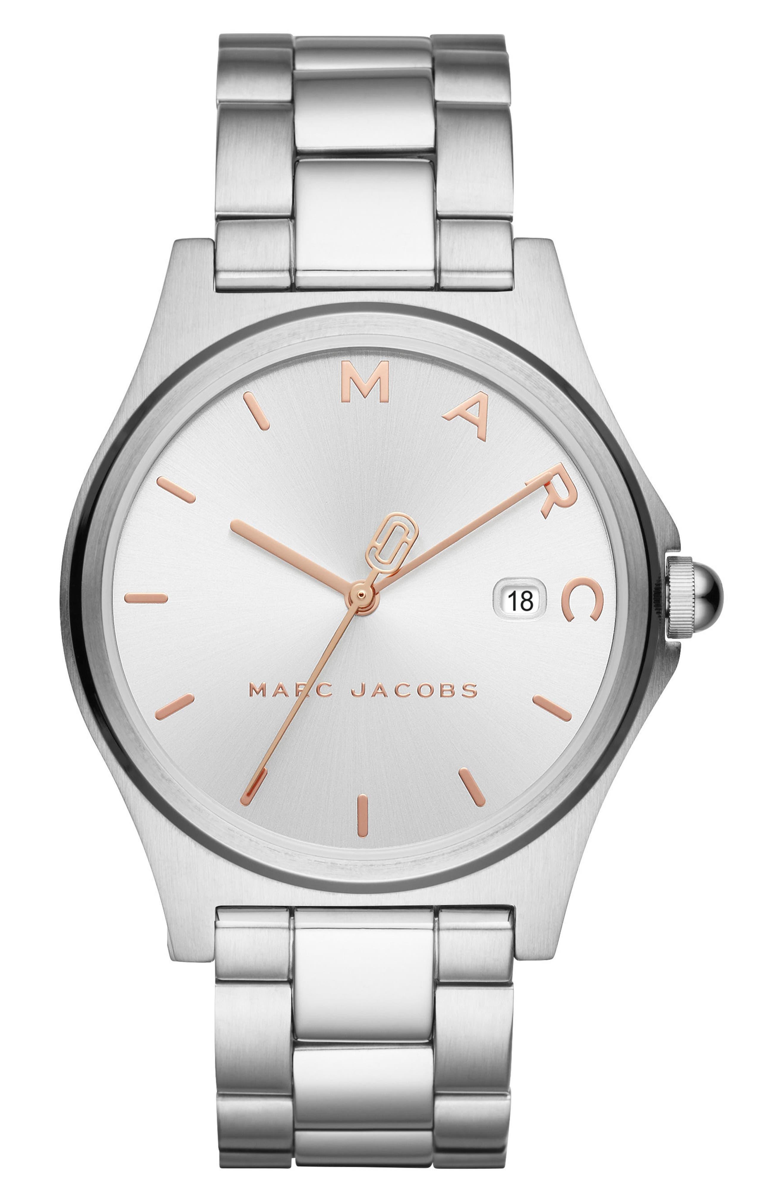 Main Image - MARC JACOBS Henry Bracelet Watch, 39mm