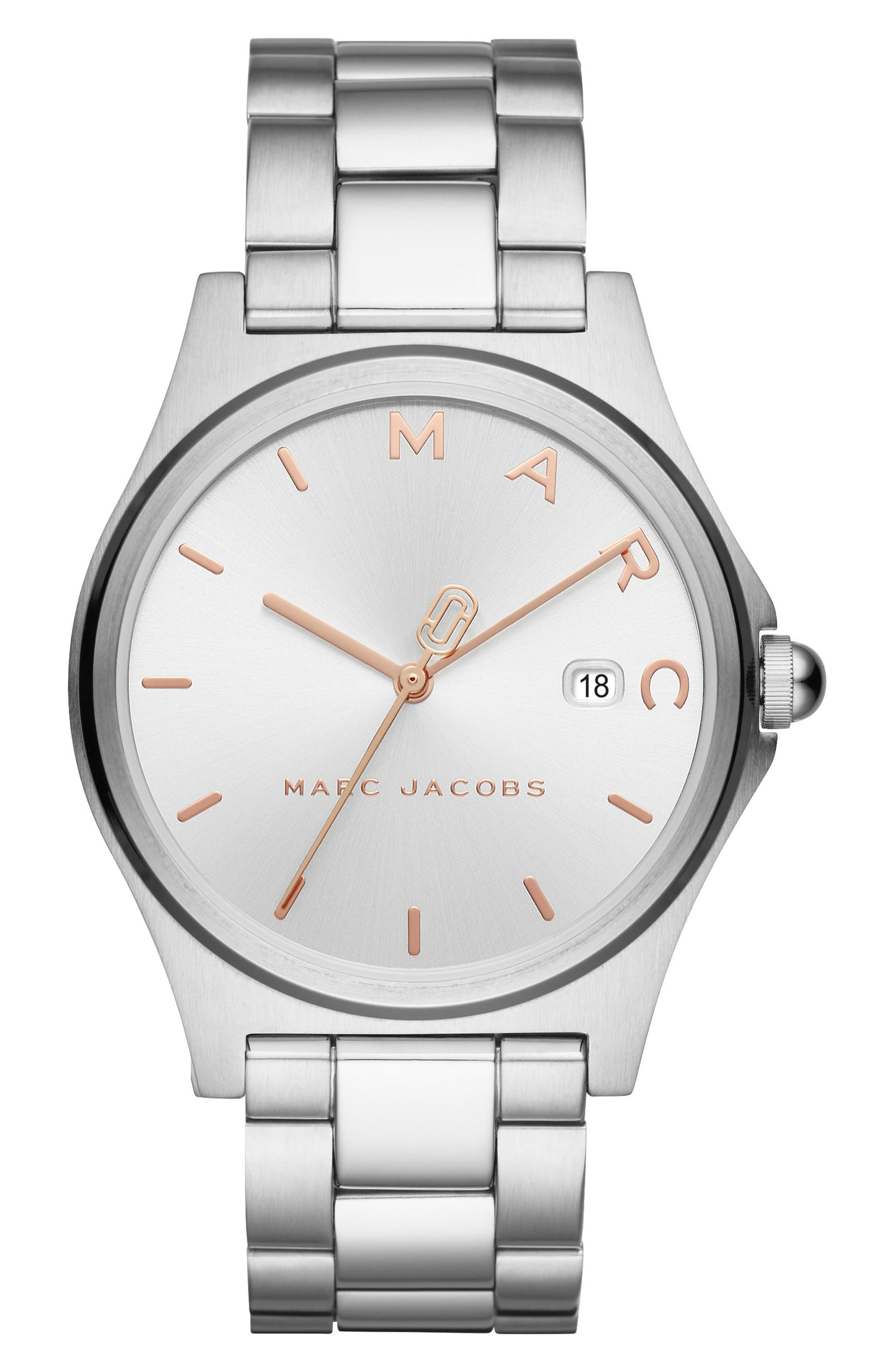 Henry Bracelet Watch, 39mm,                         Main,                         color, Silver