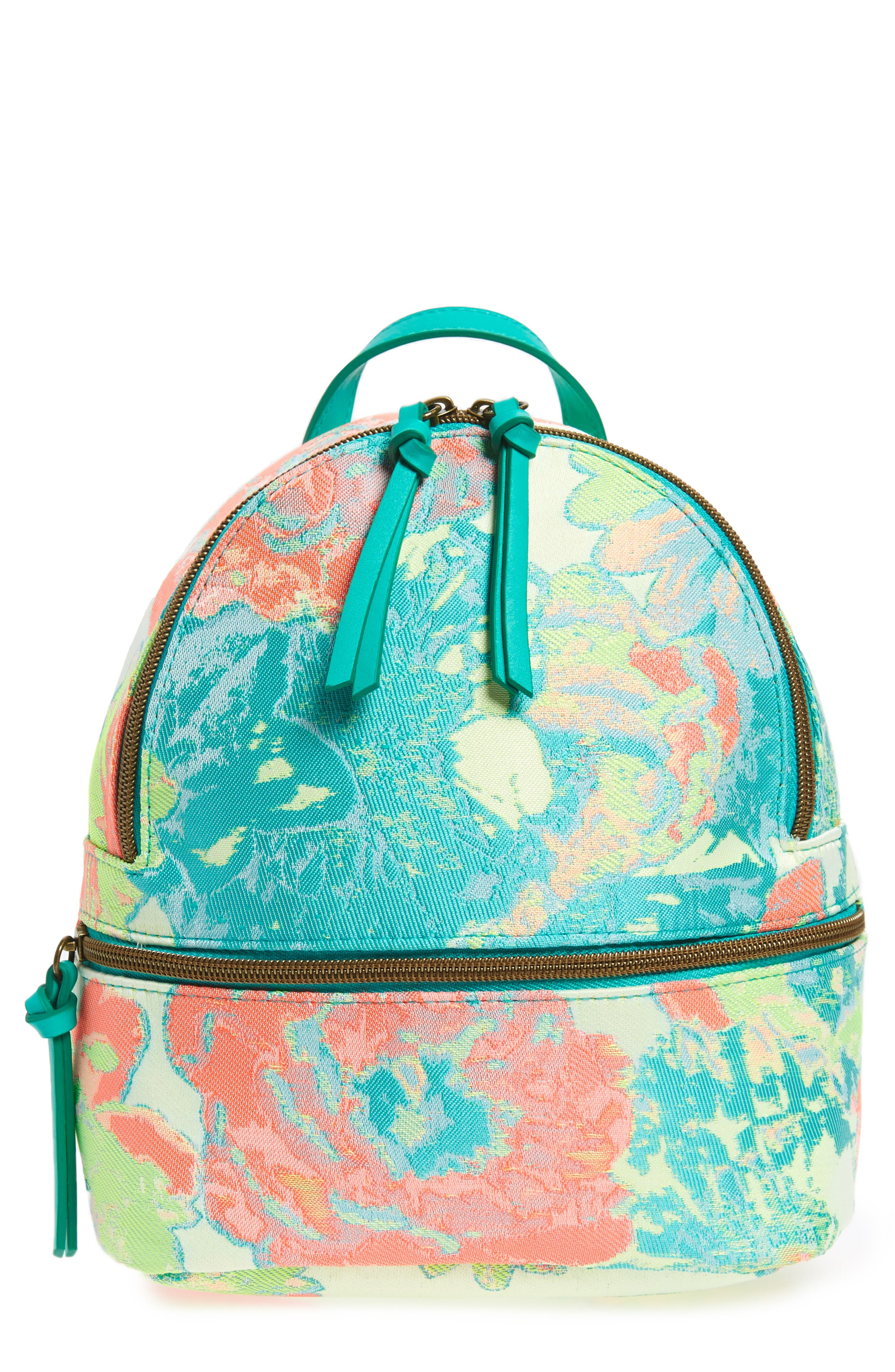 BP. Abstract Floral Mini Backpack