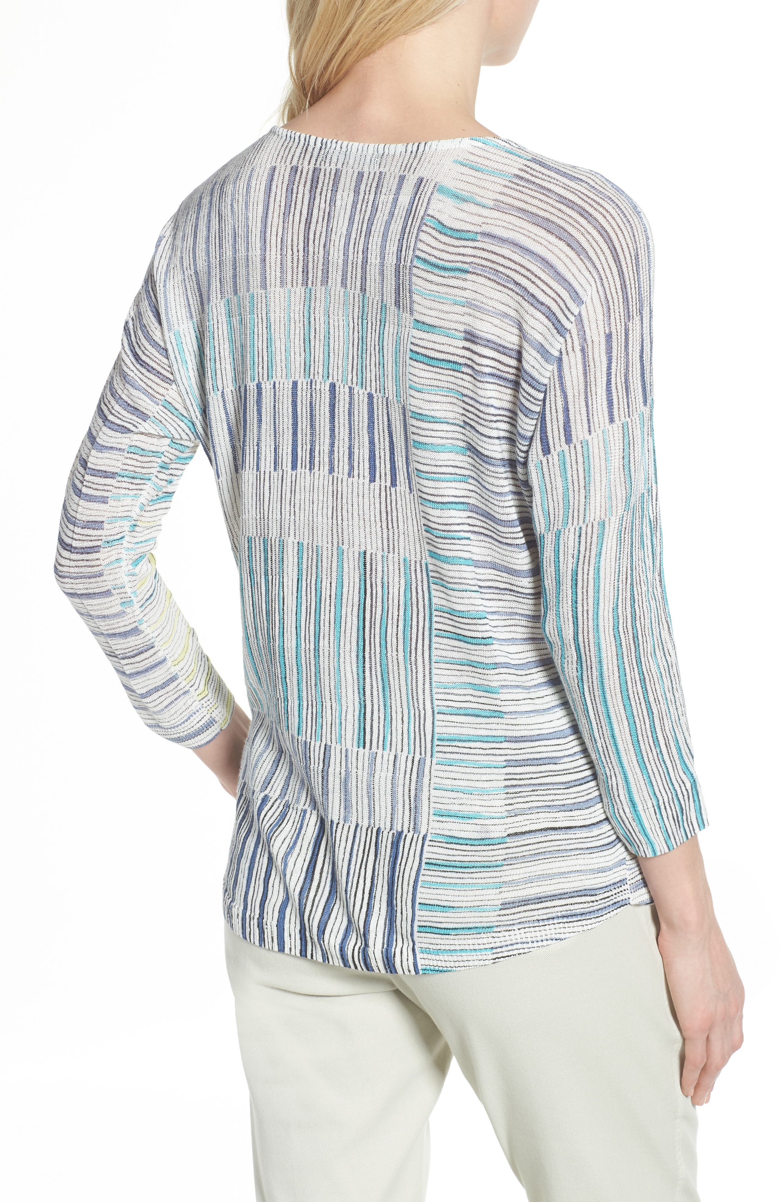 Sea Wall Stripe Top,                             Alternate thumbnail 2, color,                             Multi