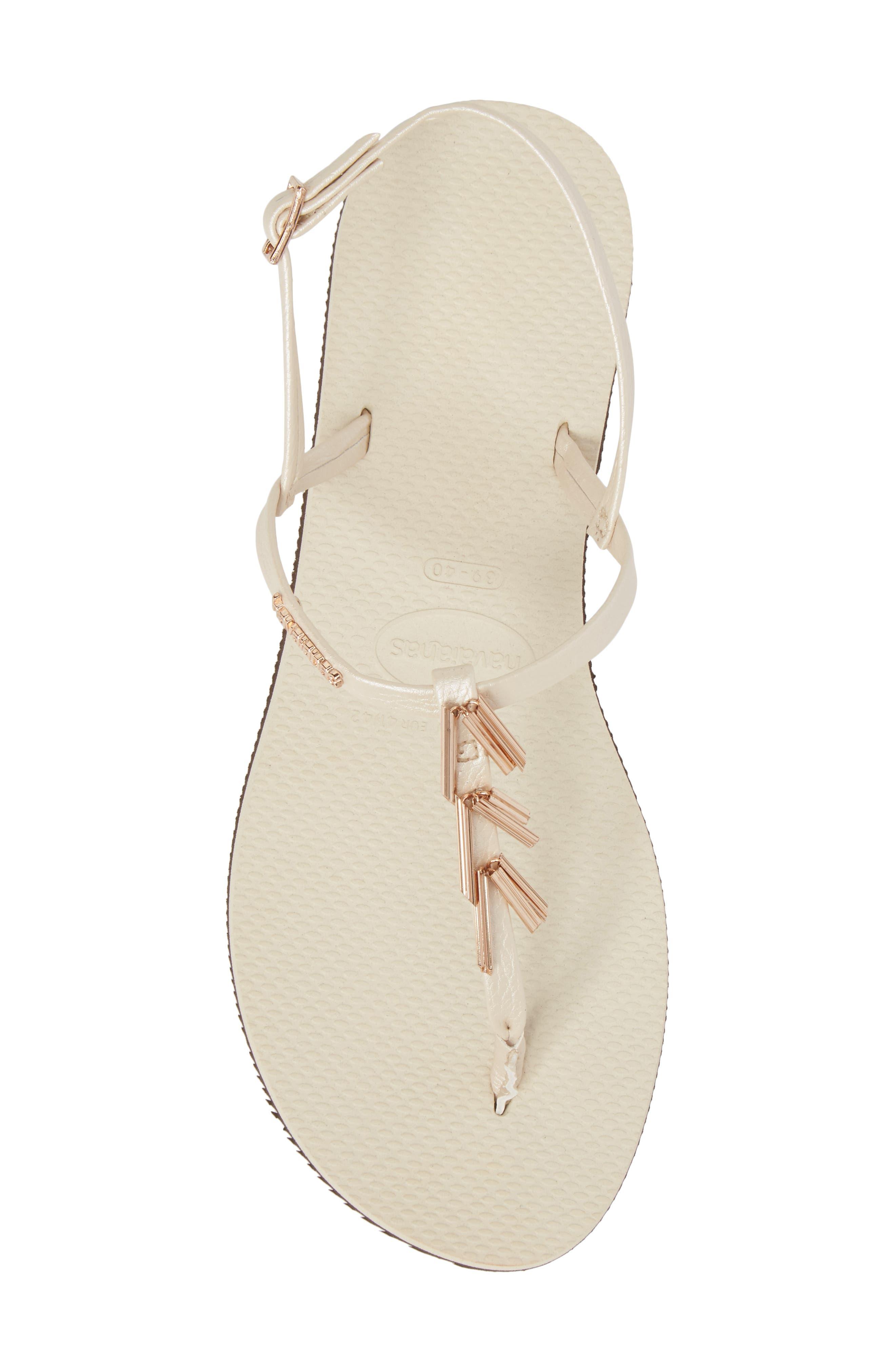 You Riviera Embellished Sandal,                             Alternate thumbnail 5, color,                             Beige