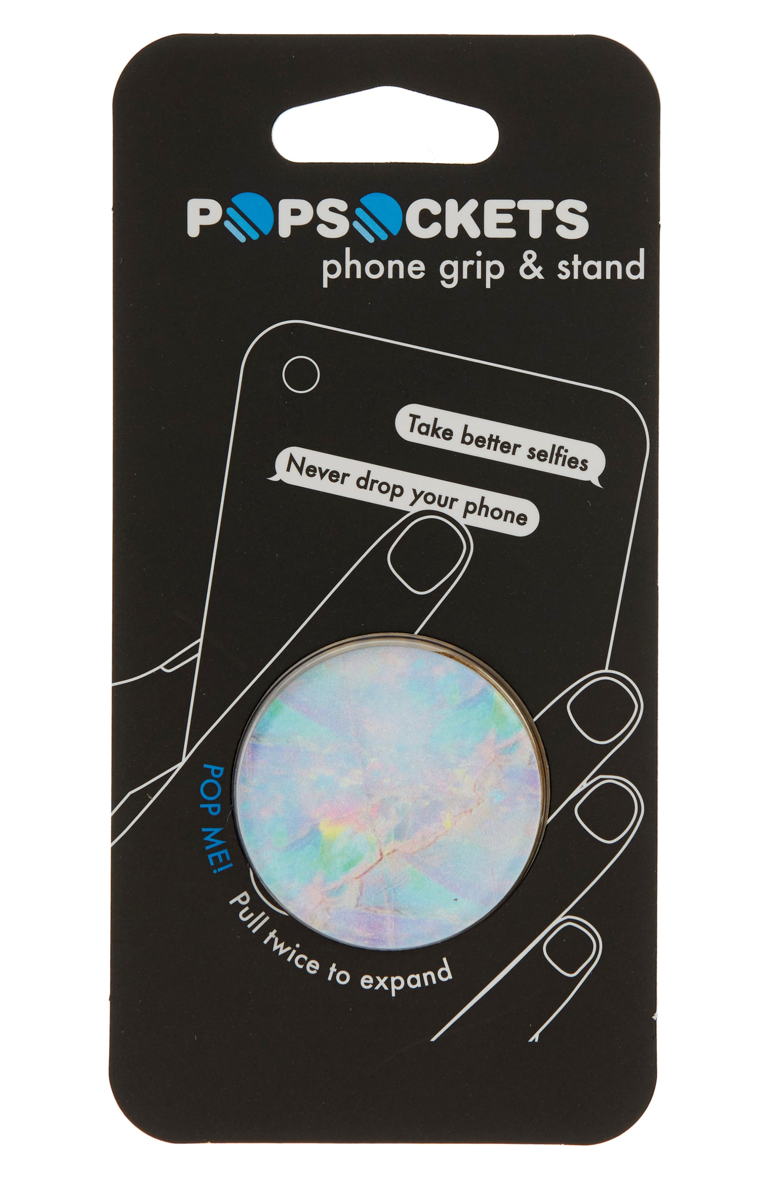 Opal Print Cell Phone Grip & Stand,                             Main thumbnail 1, color,                             Multi