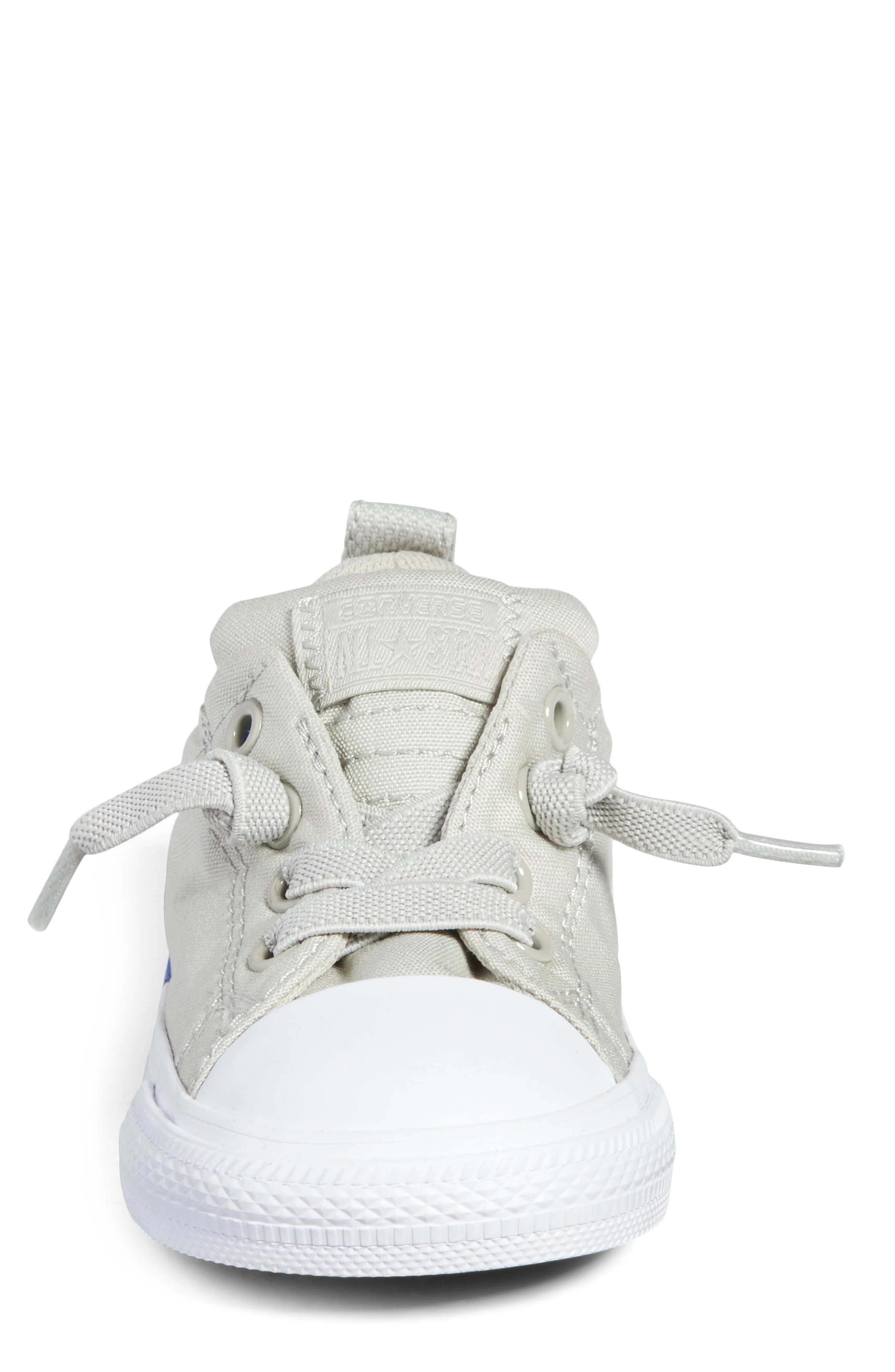 Chuck Taylor<sup>®</sup> All Star<sup>®</sup> Colorblock Street Sneaker,                             Alternate thumbnail 4, color,                             Pale Grey