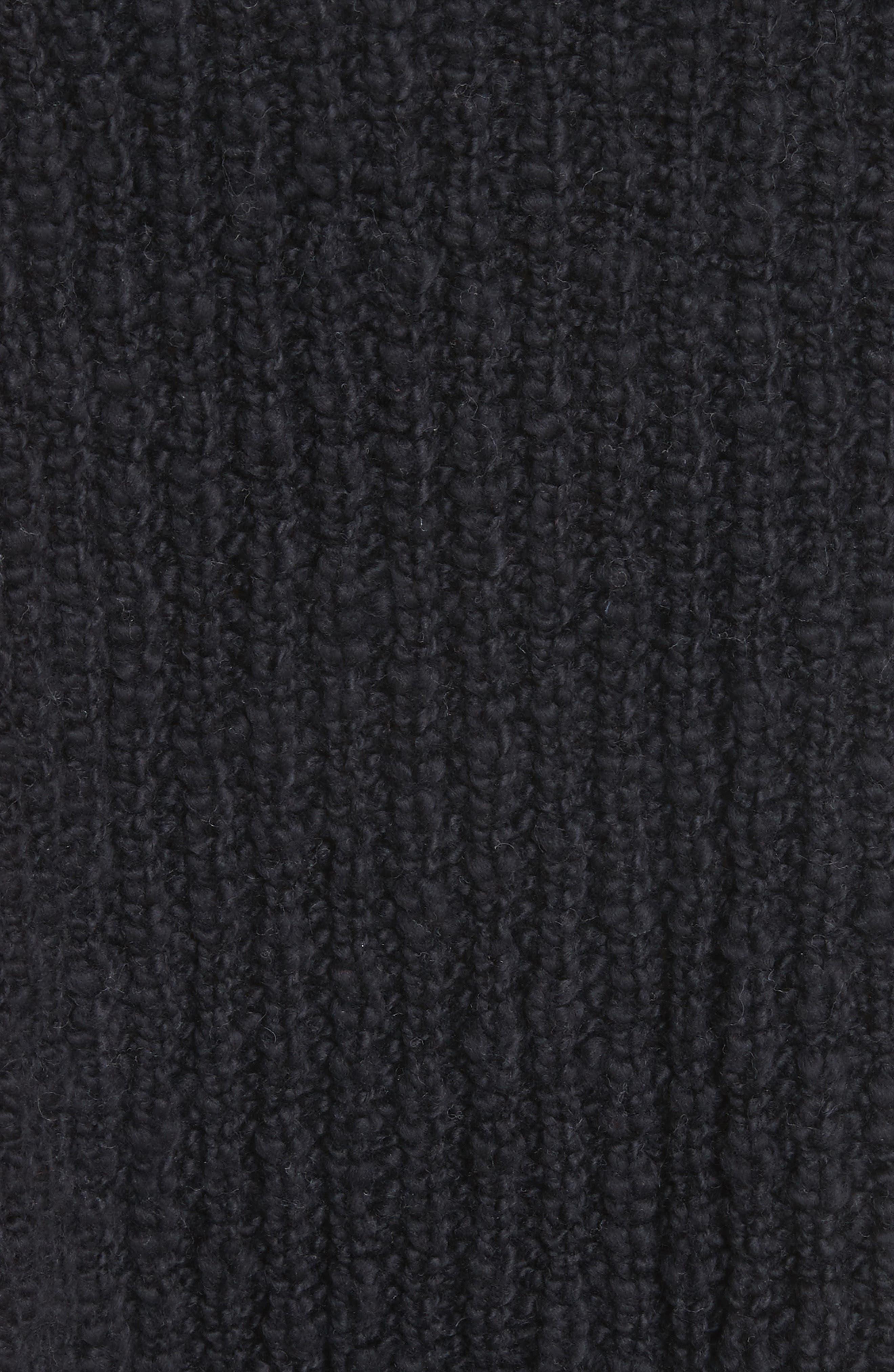 Pandora's Boatneck Sweater,                             Alternate thumbnail 6, color,                             Black
