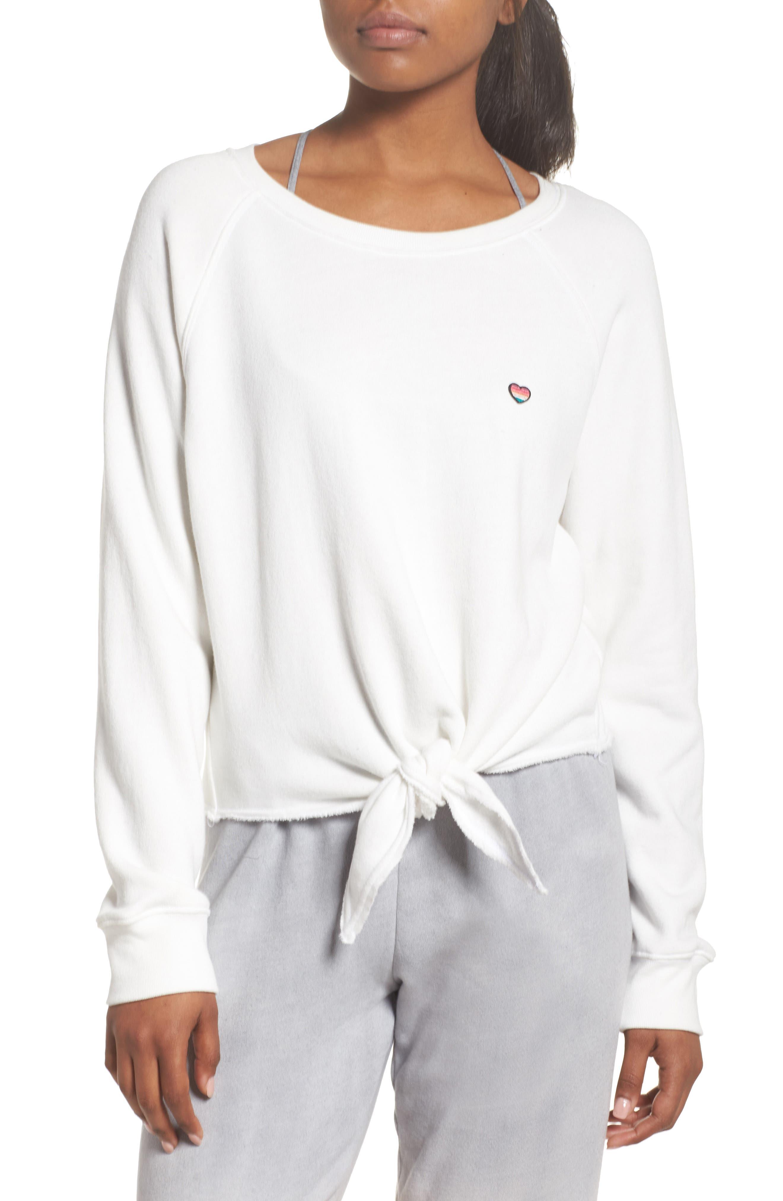 Spiritual Gangster Kind Tie Front Sweatshirt