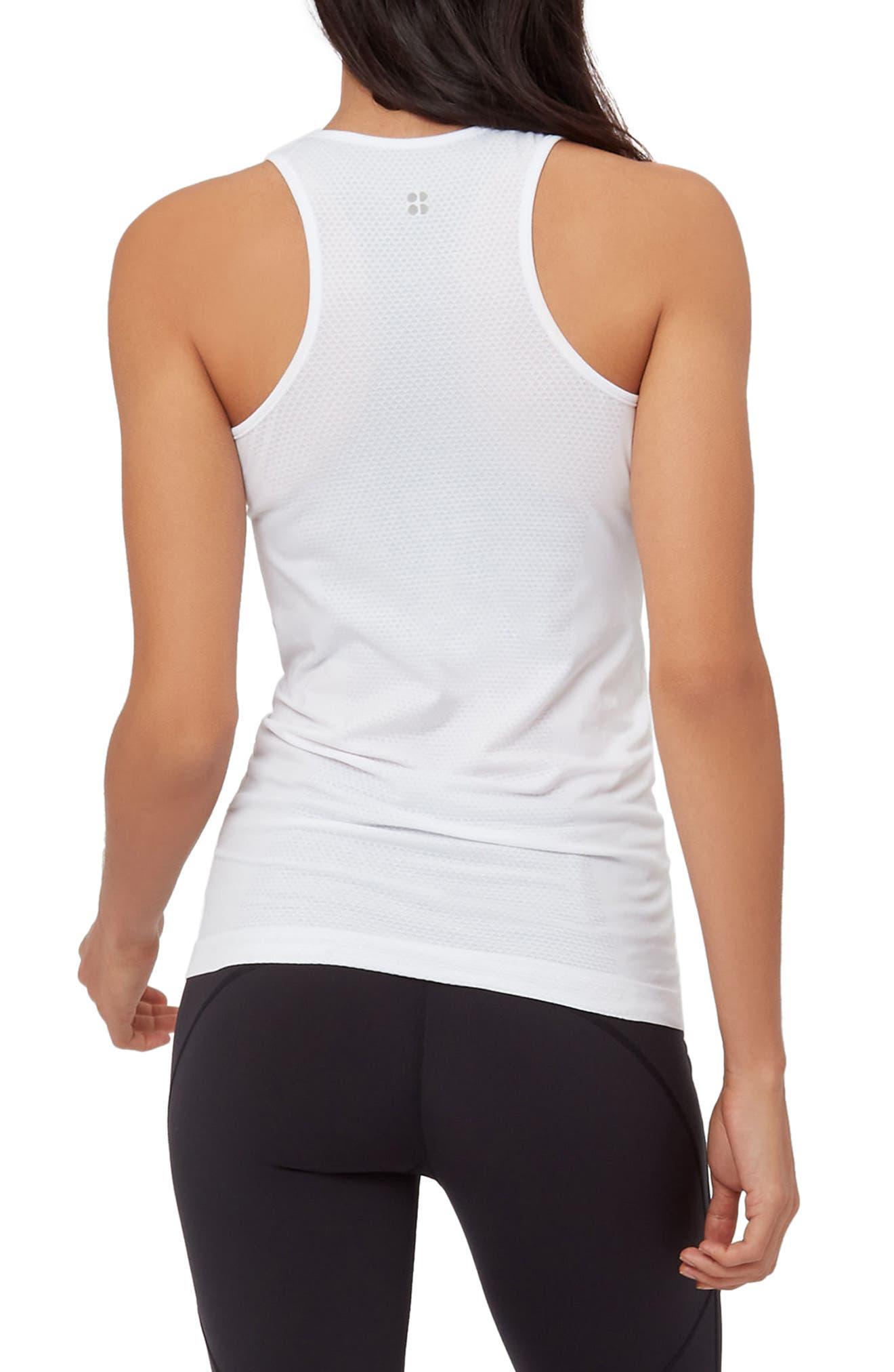 Athlete Seamless Workout Tank,                             Alternate thumbnail 2, color,                             White