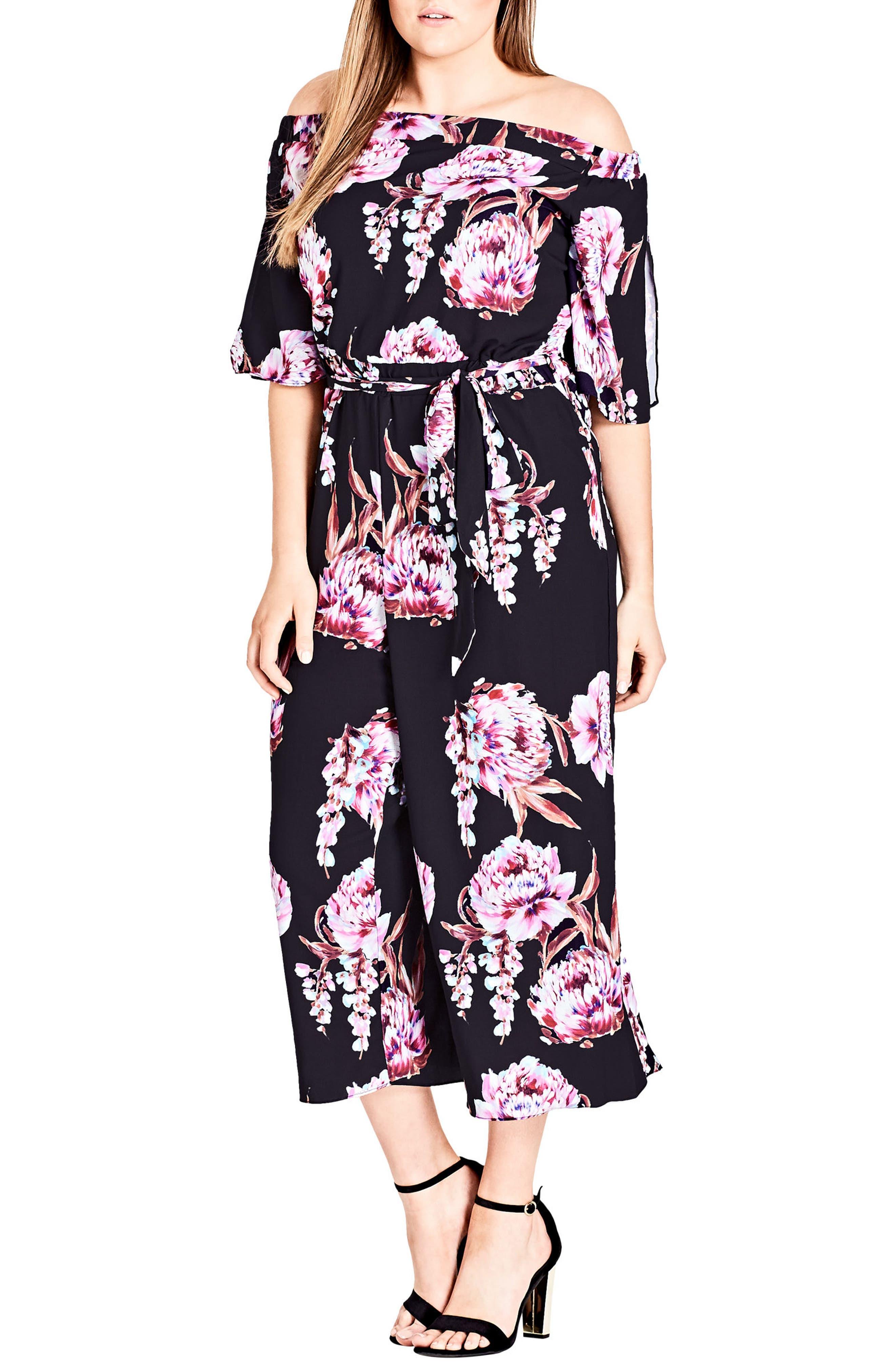 Cascade Floral Jumpsuit,                         Main,                         color, Floral Cascade