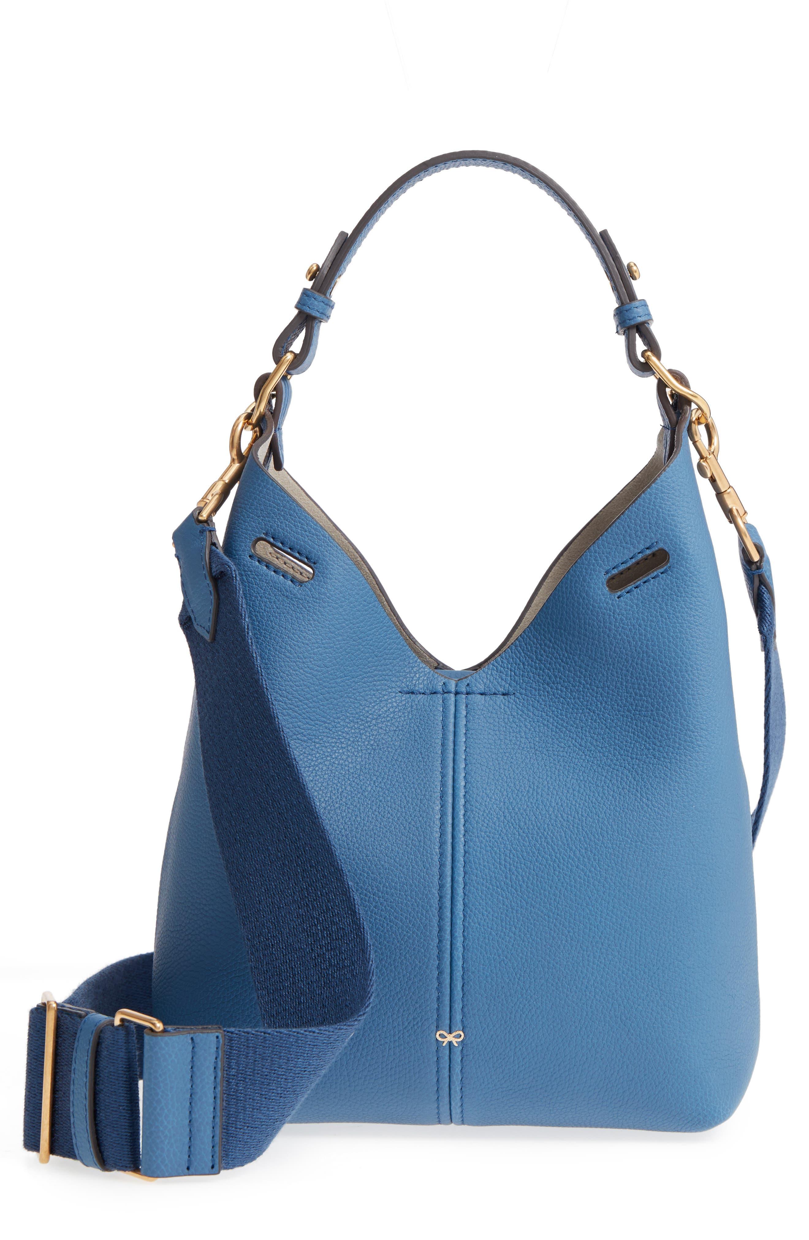 Build a Bag Mini Leather Base Bag,                             Main thumbnail 1, color,                             Periwinkle