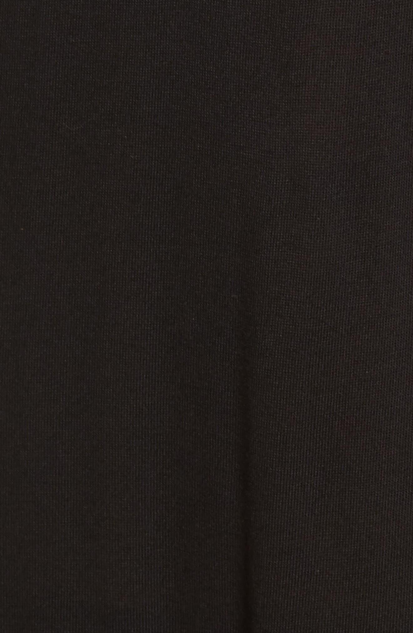 Ruffle Cover-Up Dress,                             Alternate thumbnail 5, color,                             Black