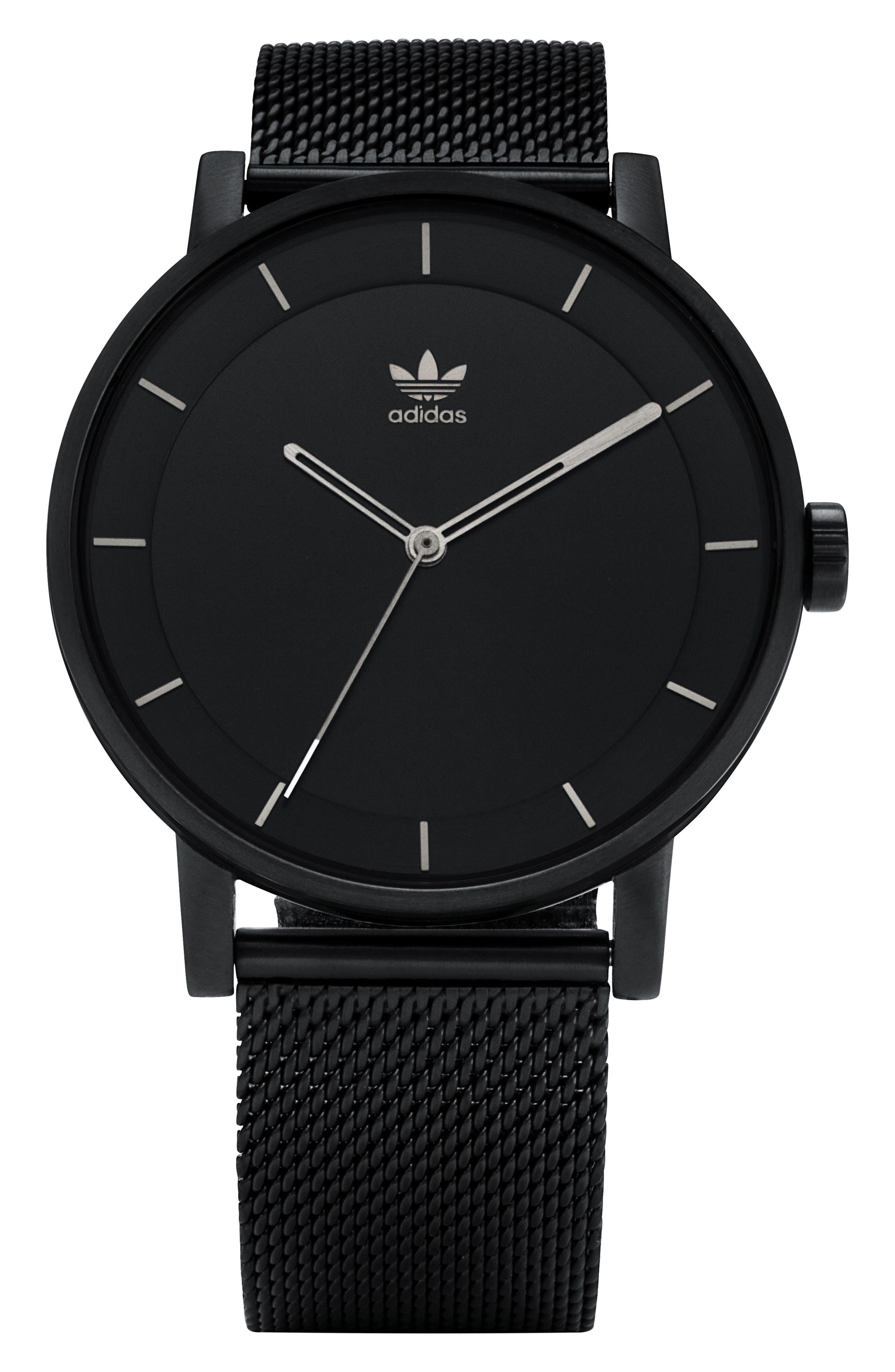 District Milanese Bracelet Watch, 40mm,                         Main,                         color, Black/ Gunmetal