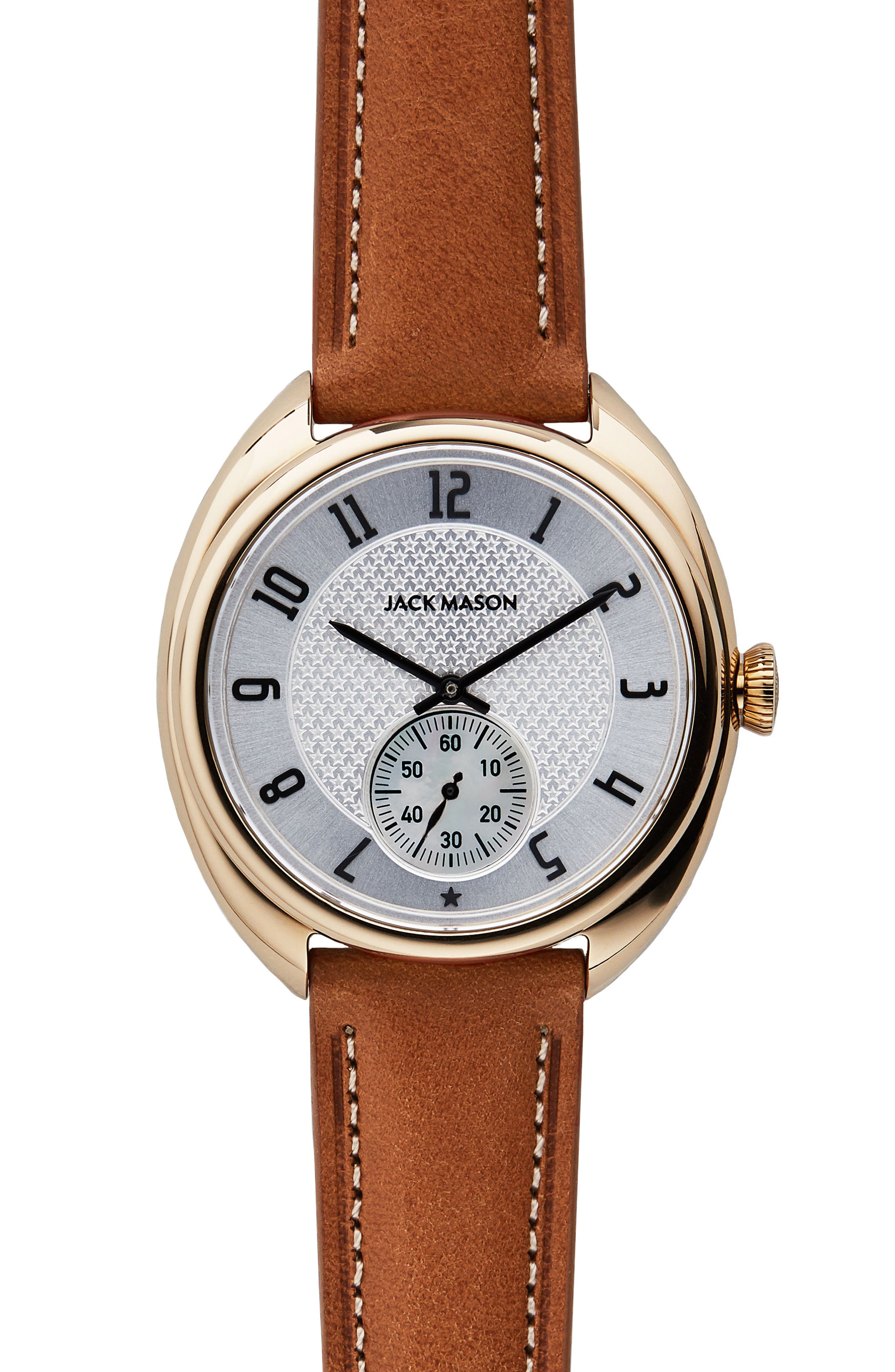 Alternate Image 1 Selected - Jack Mason Issue No. 1 Leather Strap Watch, 41mm