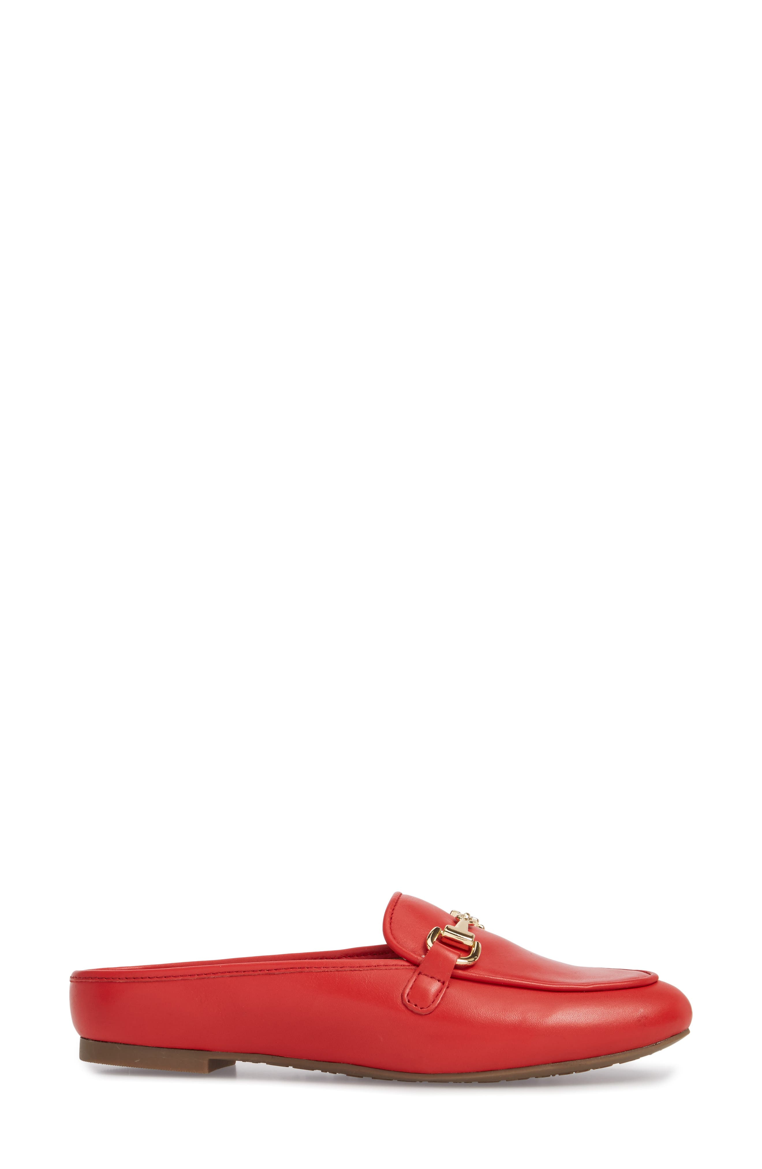 Adeline Mule,                             Alternate thumbnail 3, color,                             Red Leather