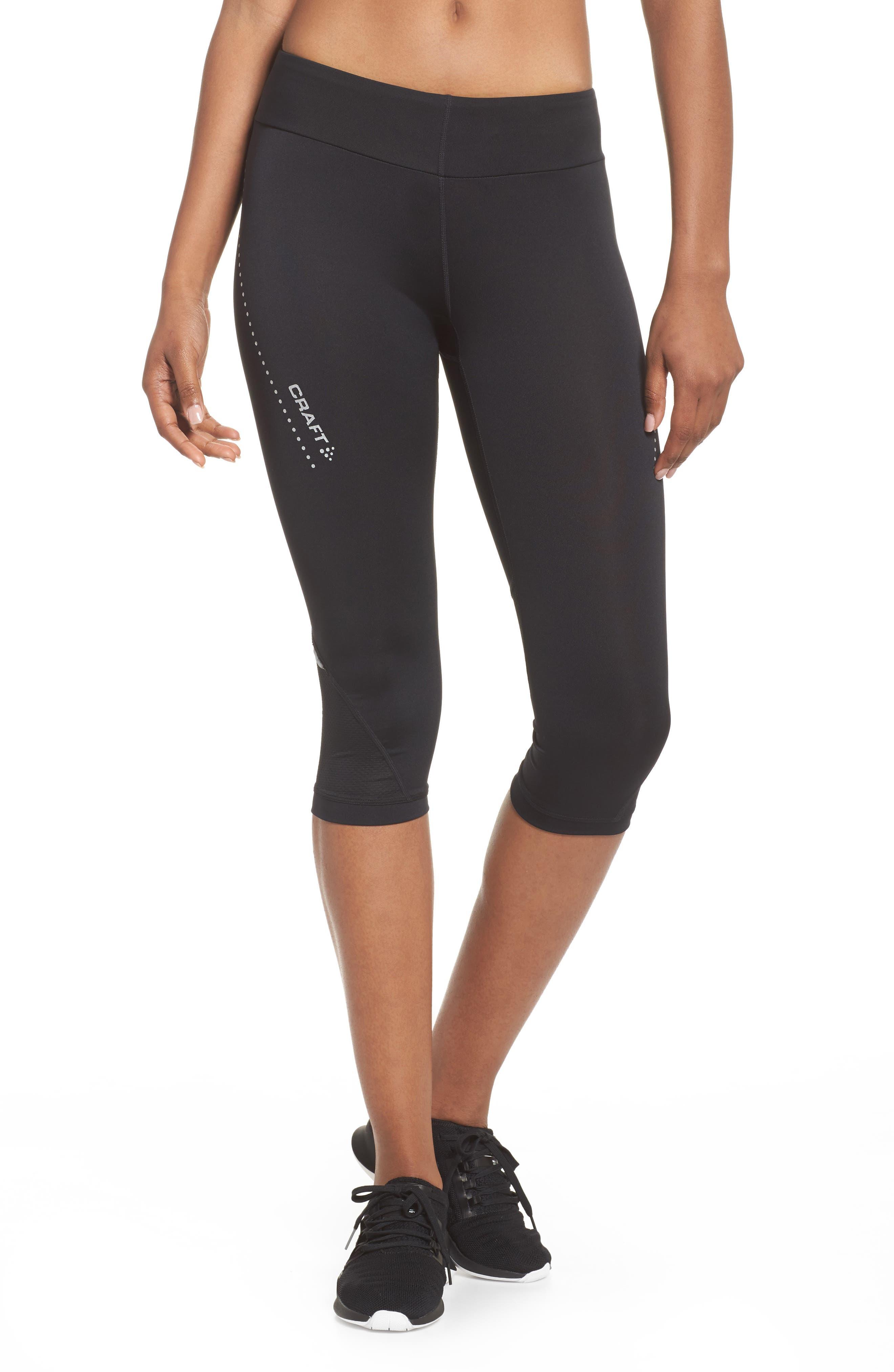 Essential Capri Leggings,                         Main,                         color, Black