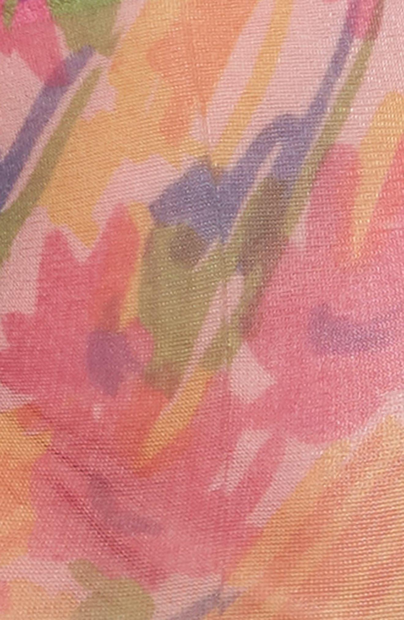 Benedetta Ankle Socks,                             Alternate thumbnail 3, color,                             Fiore Astratto