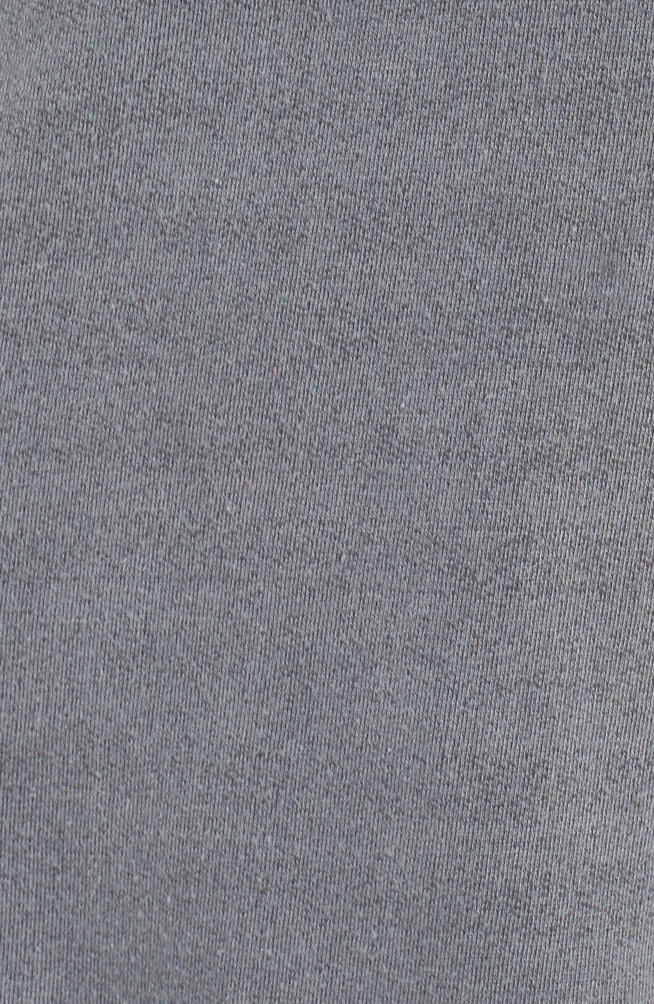 Lounge Sweatshirt Dress,                             Alternate thumbnail 6, color,                             Faded Black