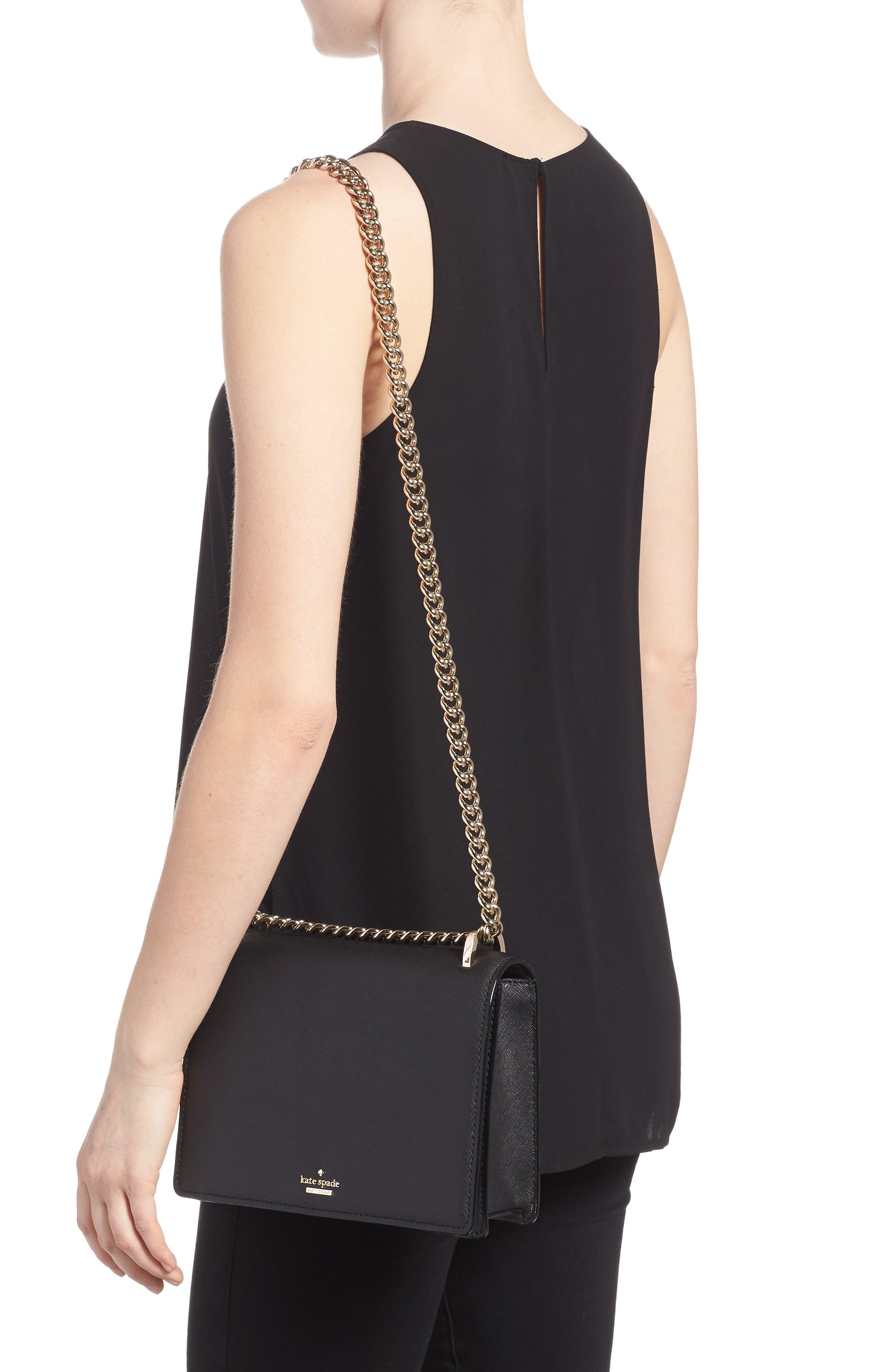 cameron street marci leather shoulder bag,                             Alternate thumbnail 2, color,                             Black