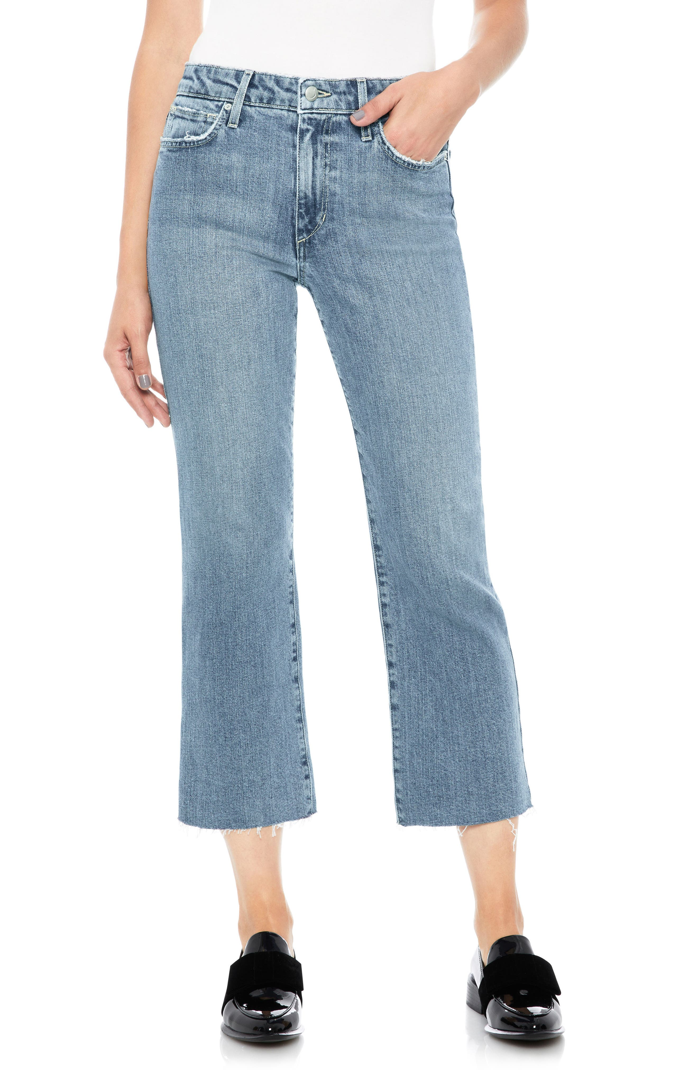 Wyatt Crop Wide Leg Jeans,                         Main,                         color, Remmy