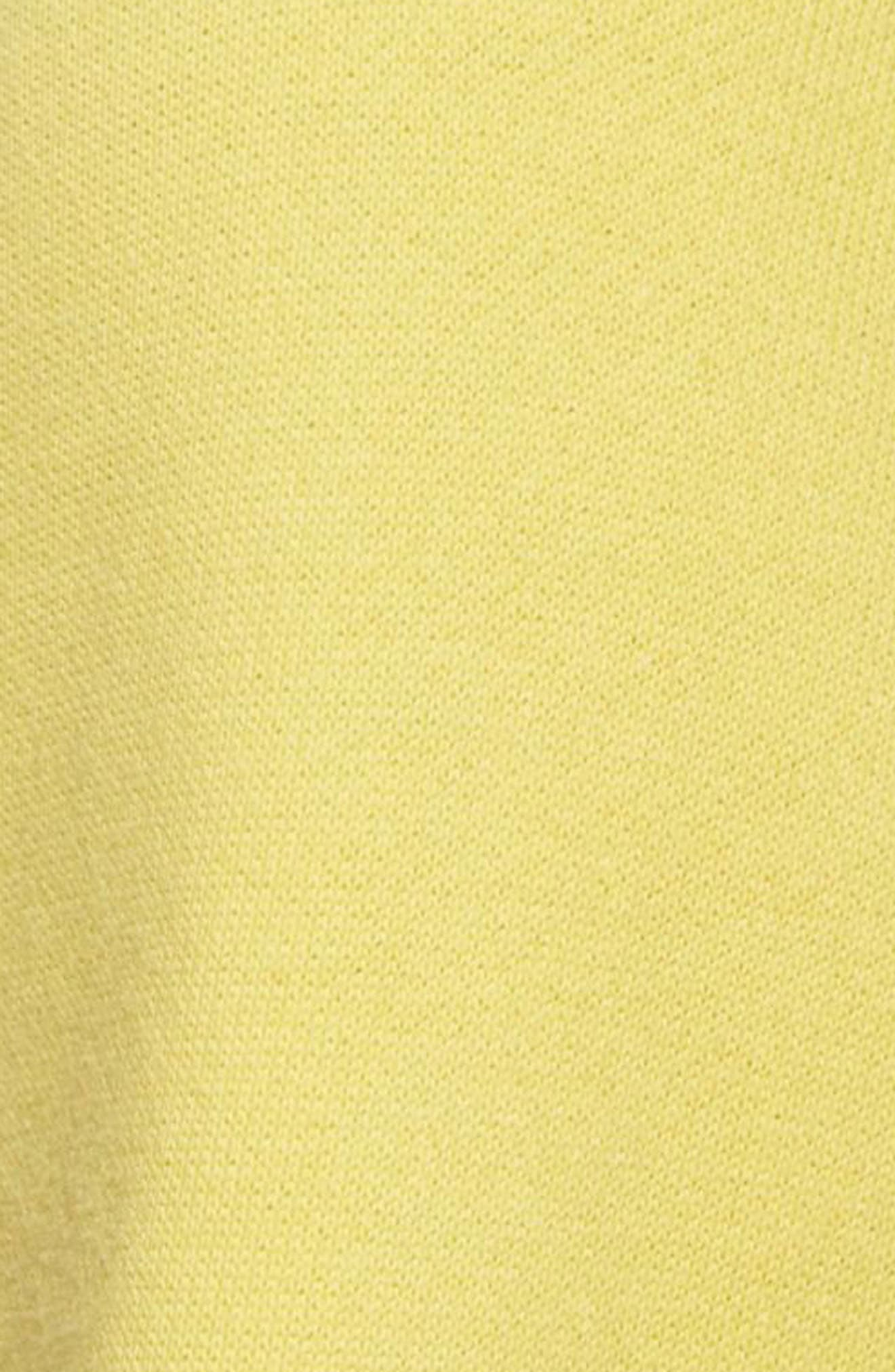 Originals Trefoil Hoodie,                             Alternate thumbnail 6, color,                             Intense Lemon
