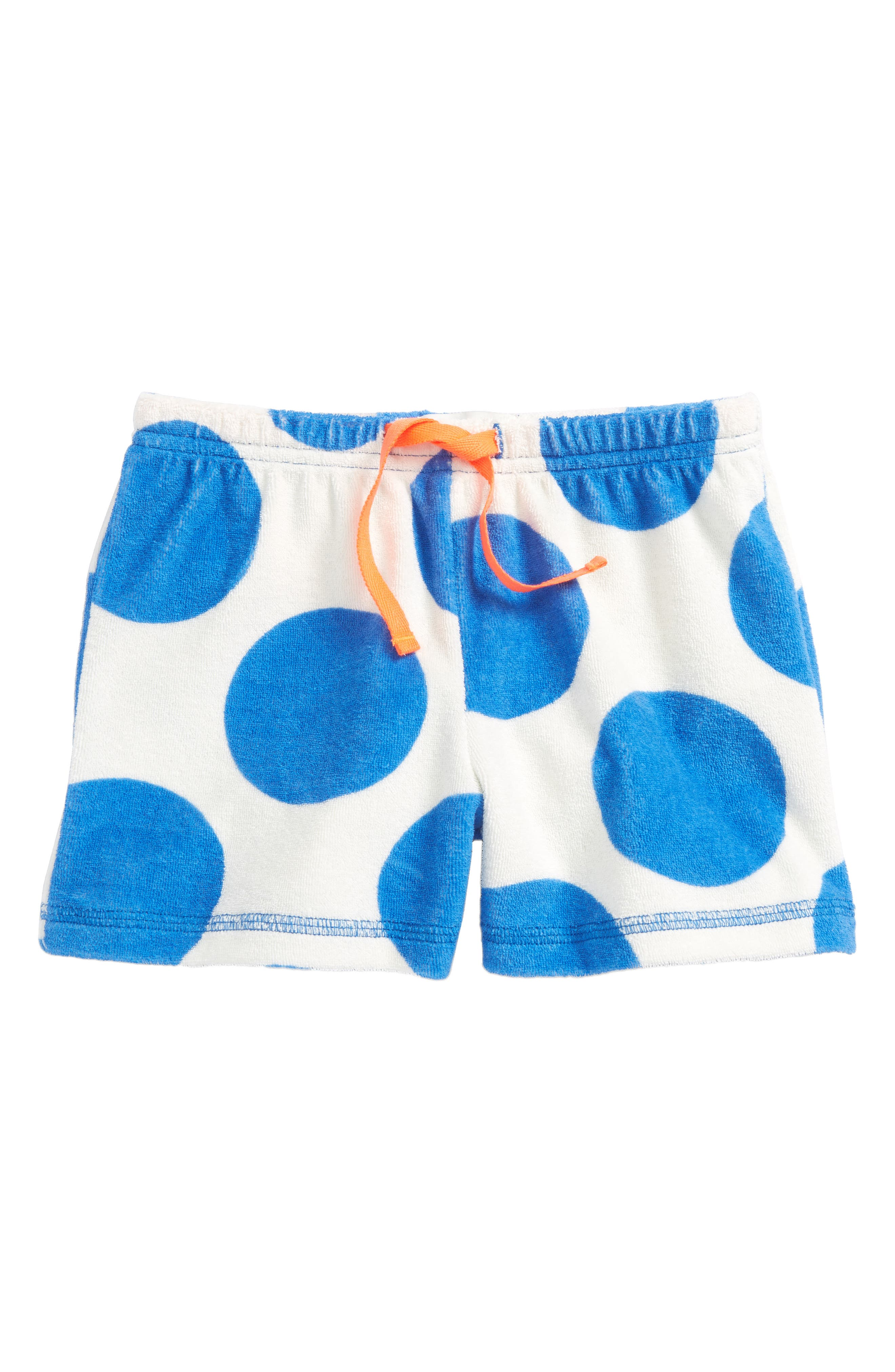 Adventure Toweling Beach Shorts,                         Main,                         color, Ivory/ Skipper Blue Jumbo Spot