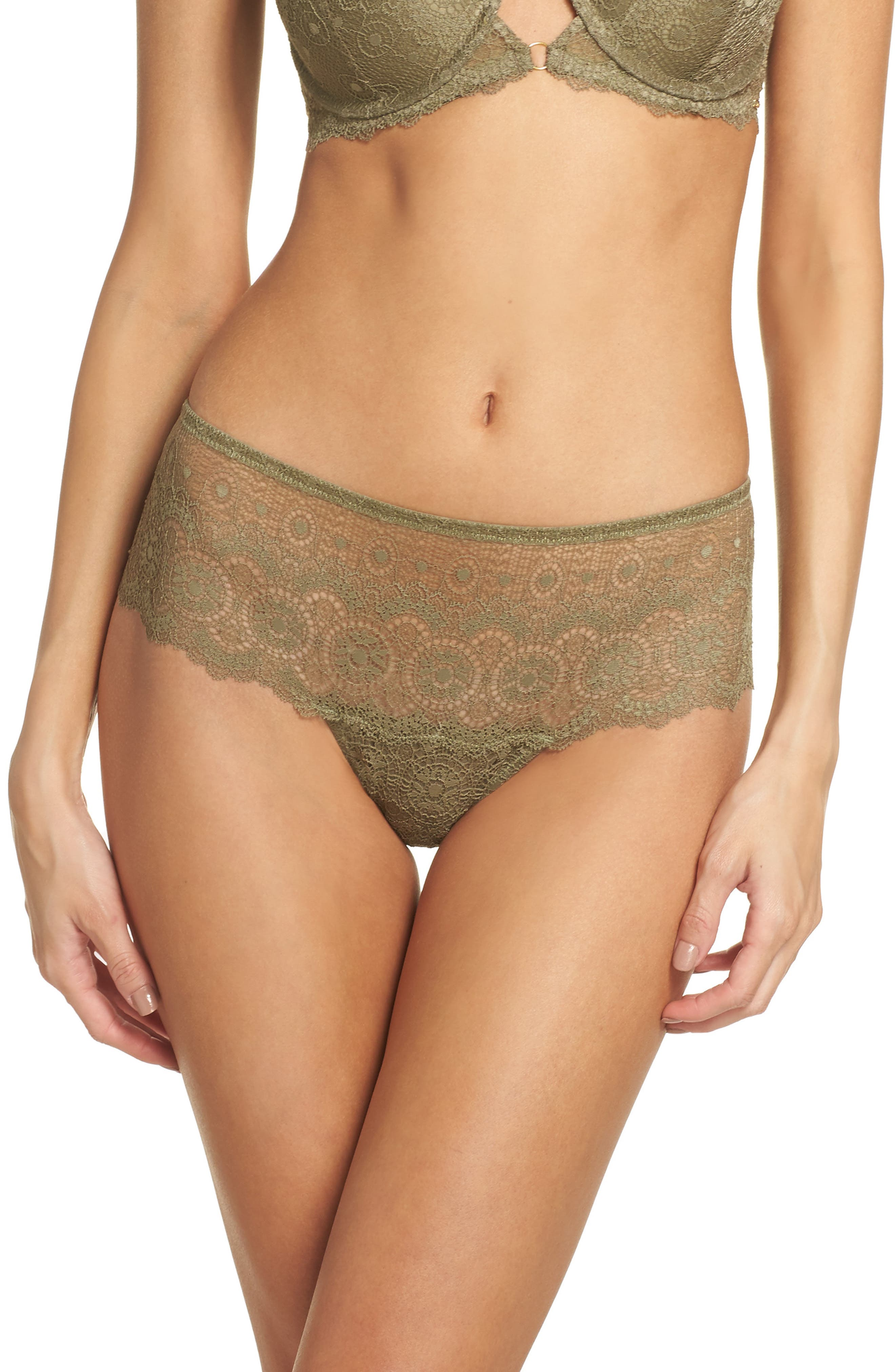 Alternate Image 1 Selected - Sam Edelman Lace Hipster Panties (3 for $33)