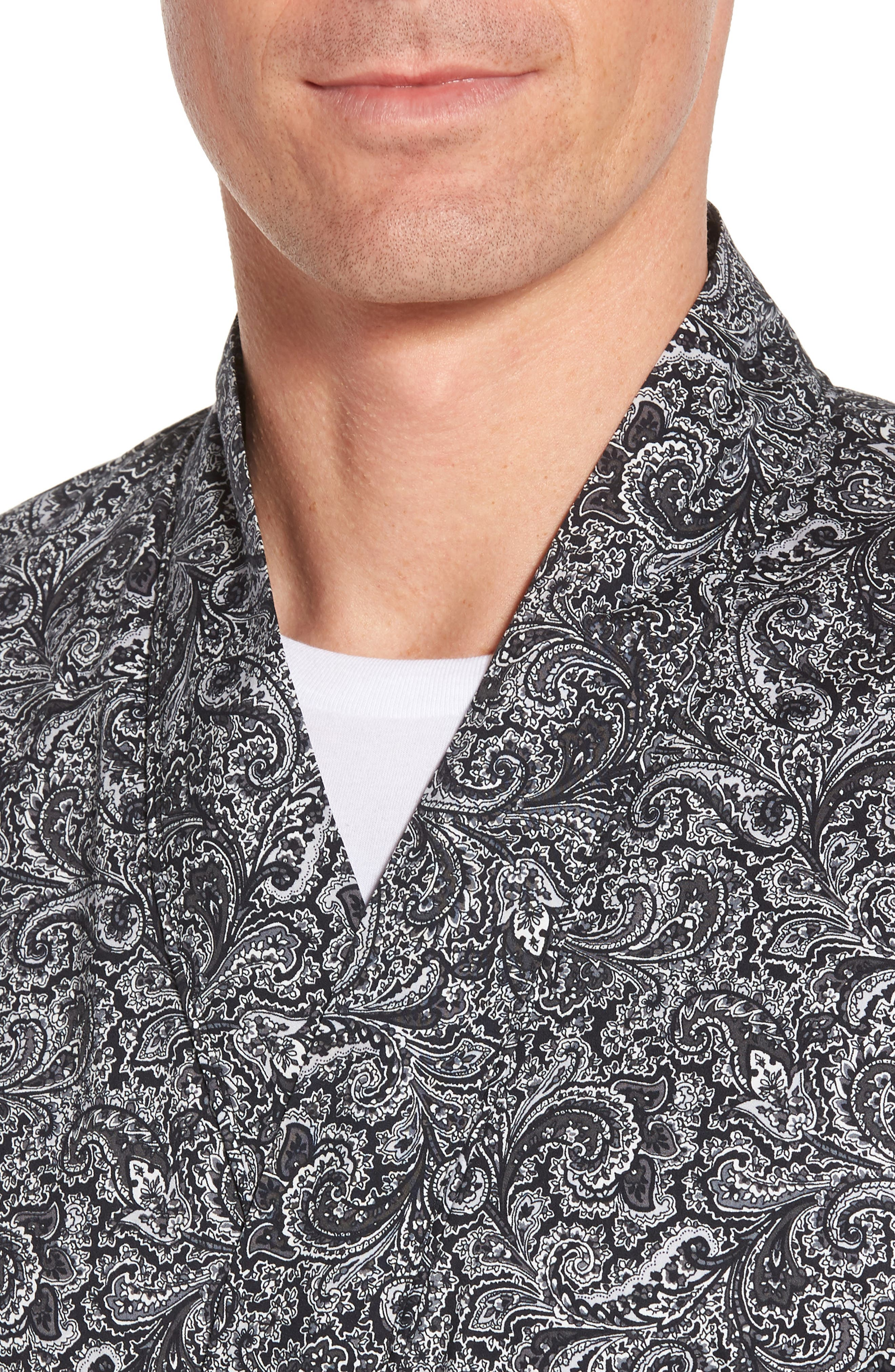 Starling Robe,                             Alternate thumbnail 4, color,                             Black Paisley