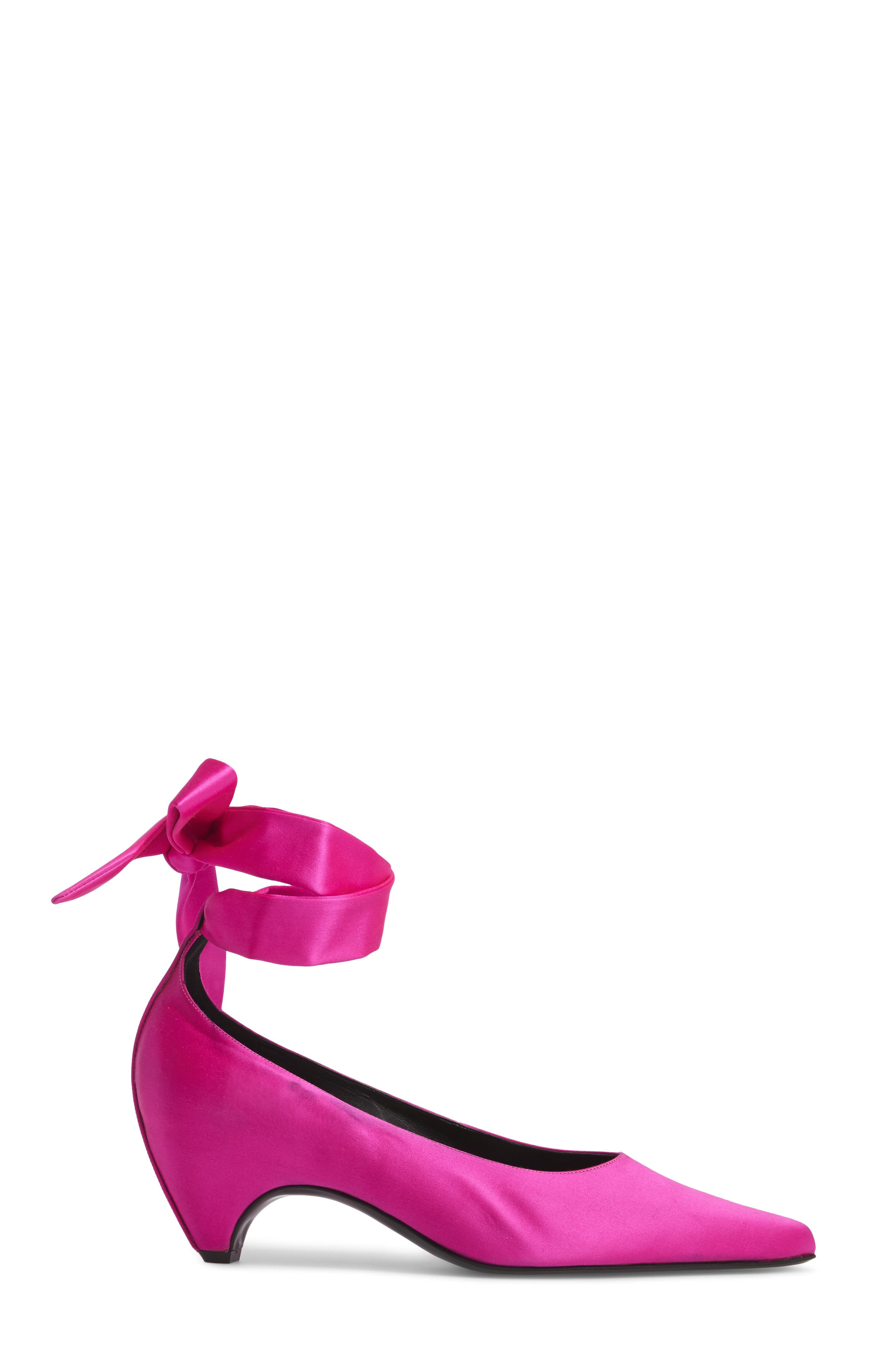 Ankle Wrap Pump,                             Alternate thumbnail 3, color,                             Pink