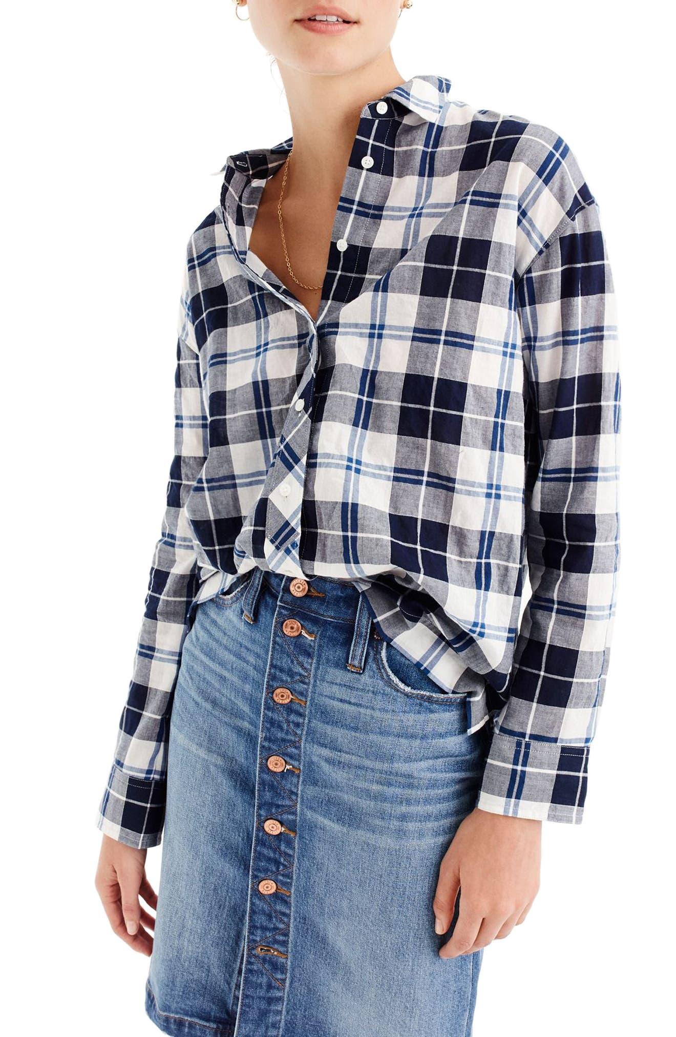 J.Crew Plaid Boy Shirt