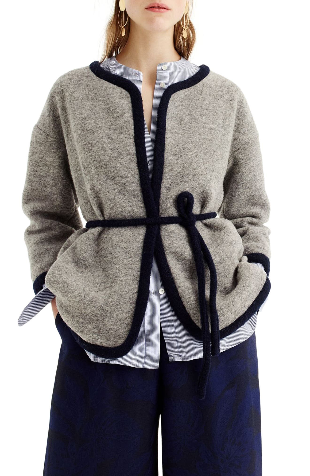 Branford Boiled Wool Blend Jacket,                         Main,                         color, Heather Graphite