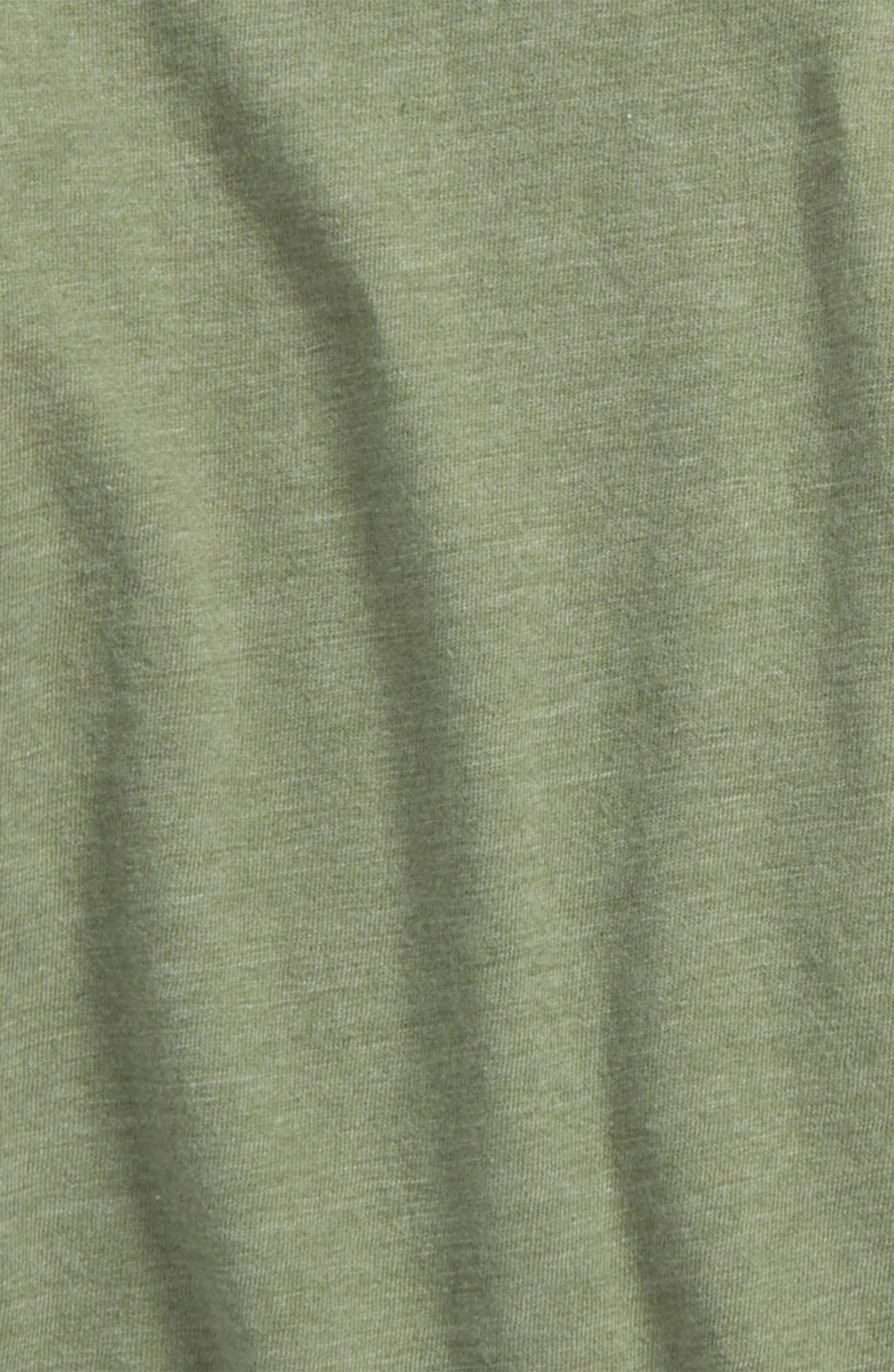 Baseball T-Shirt,                             Alternate thumbnail 2, color,                             Green Hedge- Grey