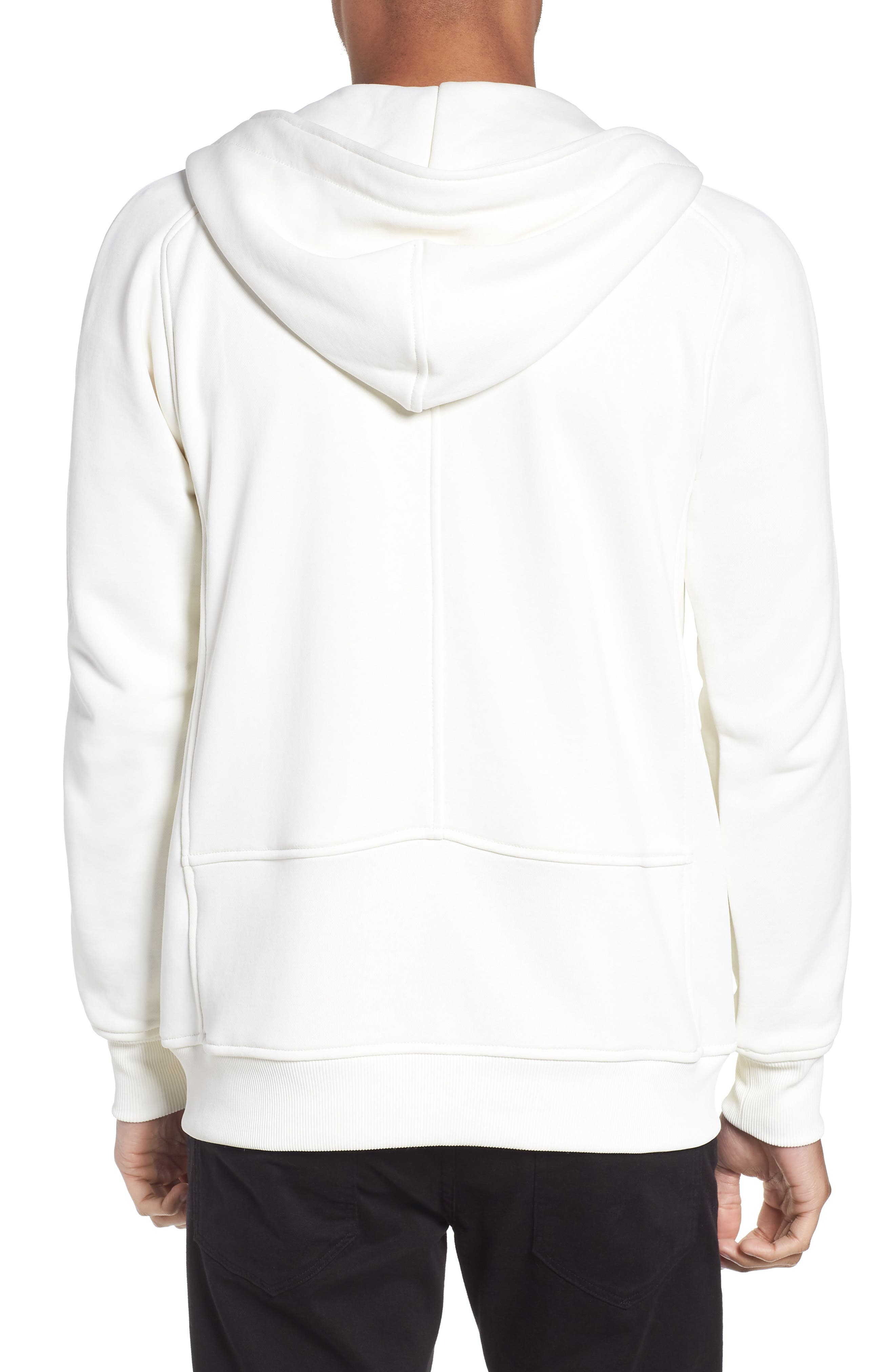 The Lux Full Zip Hoodie,                             Alternate thumbnail 2, color,                             Creme