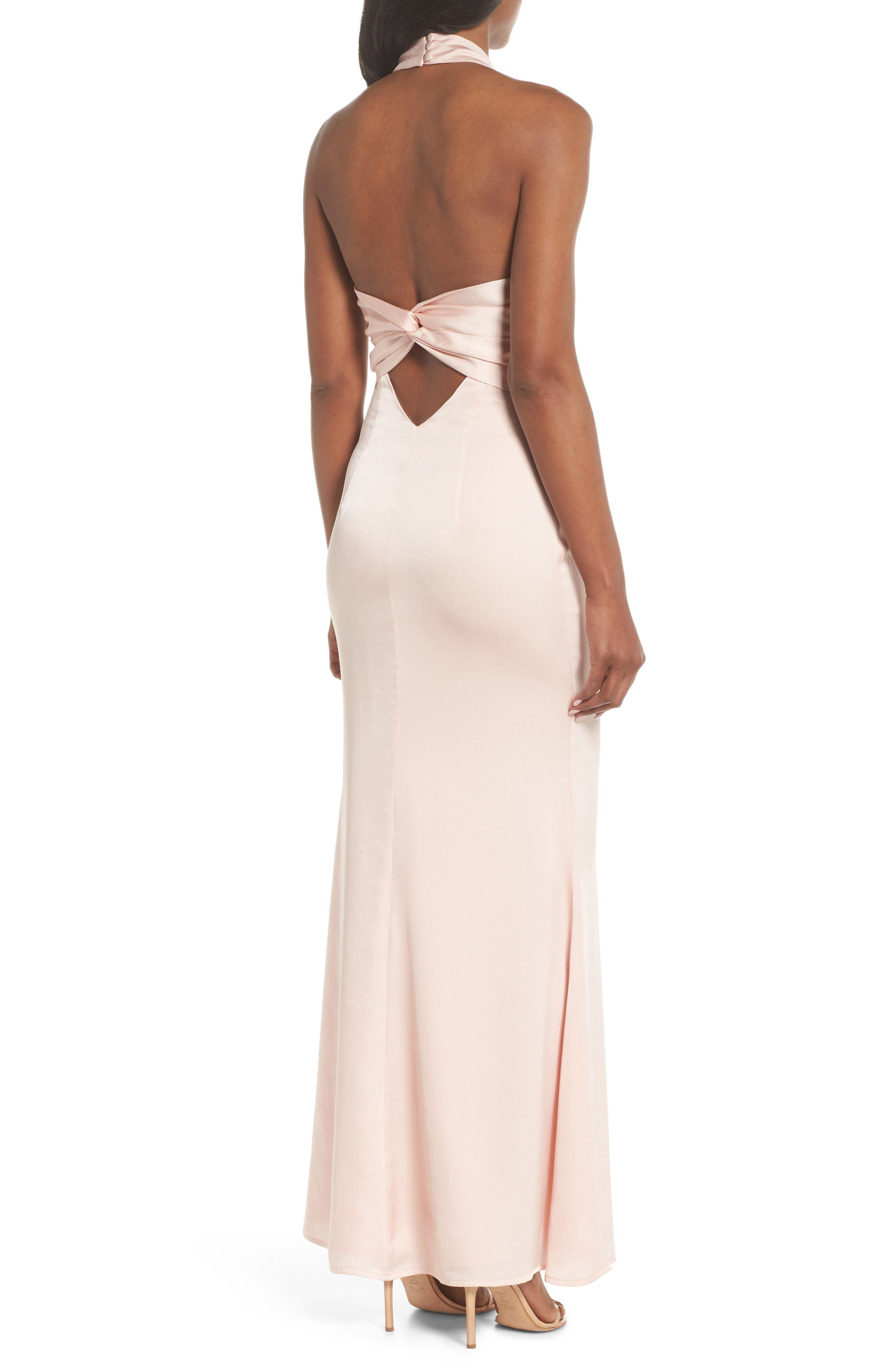 Alternate Image 2  - Jarlo Tenny Halter Column Gown
