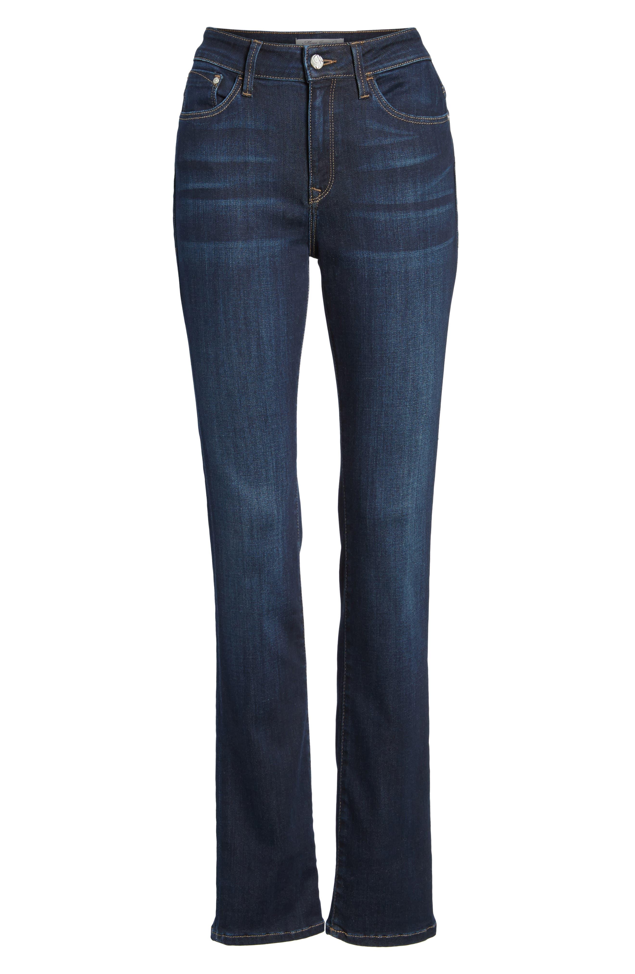 Kendra Straight Leg Jeans,                             Alternate thumbnail 7, color,                             Deep Supersoft