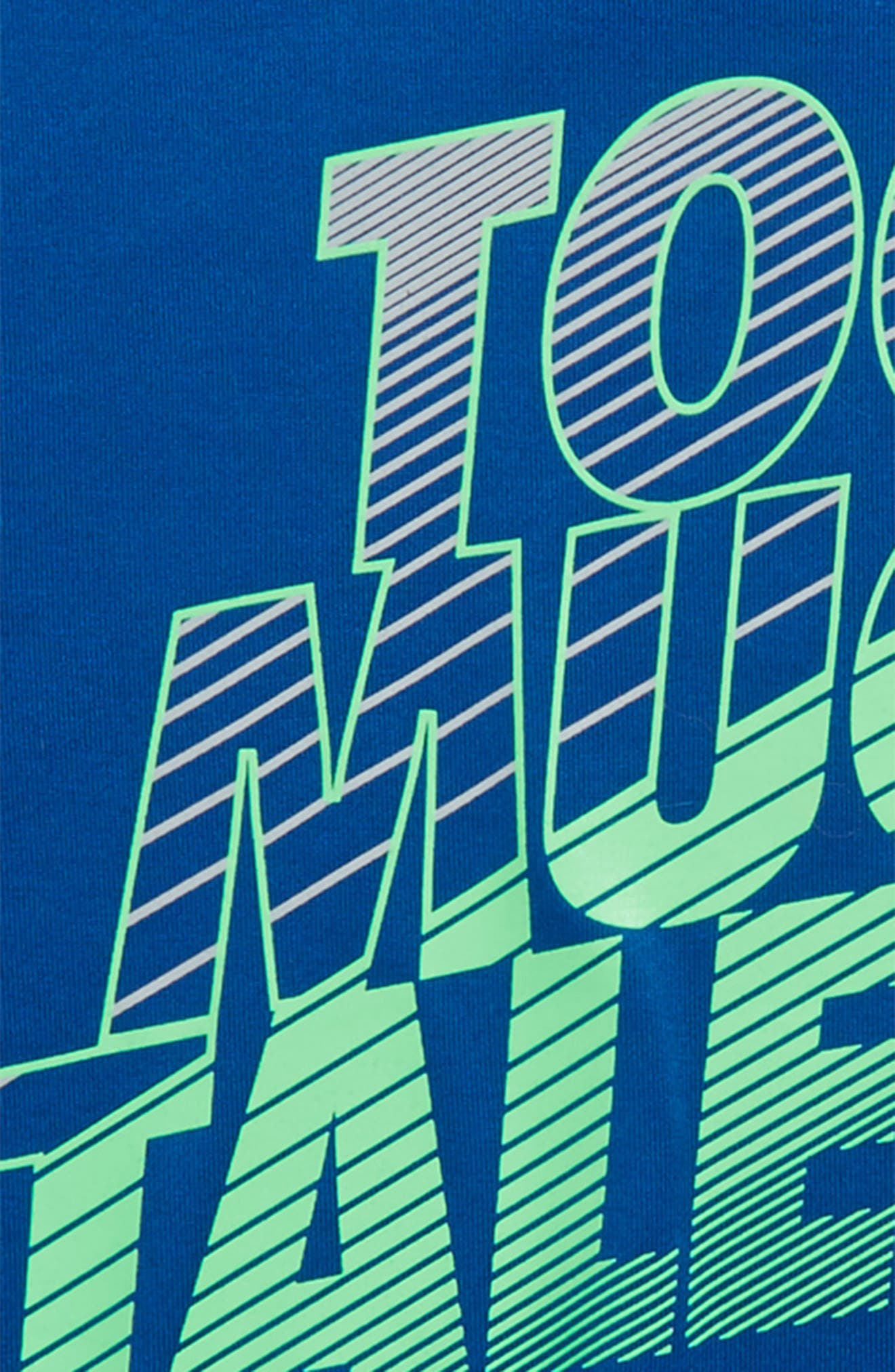 Too Much Talent HeatGear<sup>®</sup> T-Shirt,                             Alternate thumbnail 2, color,                             Moroccan Blue