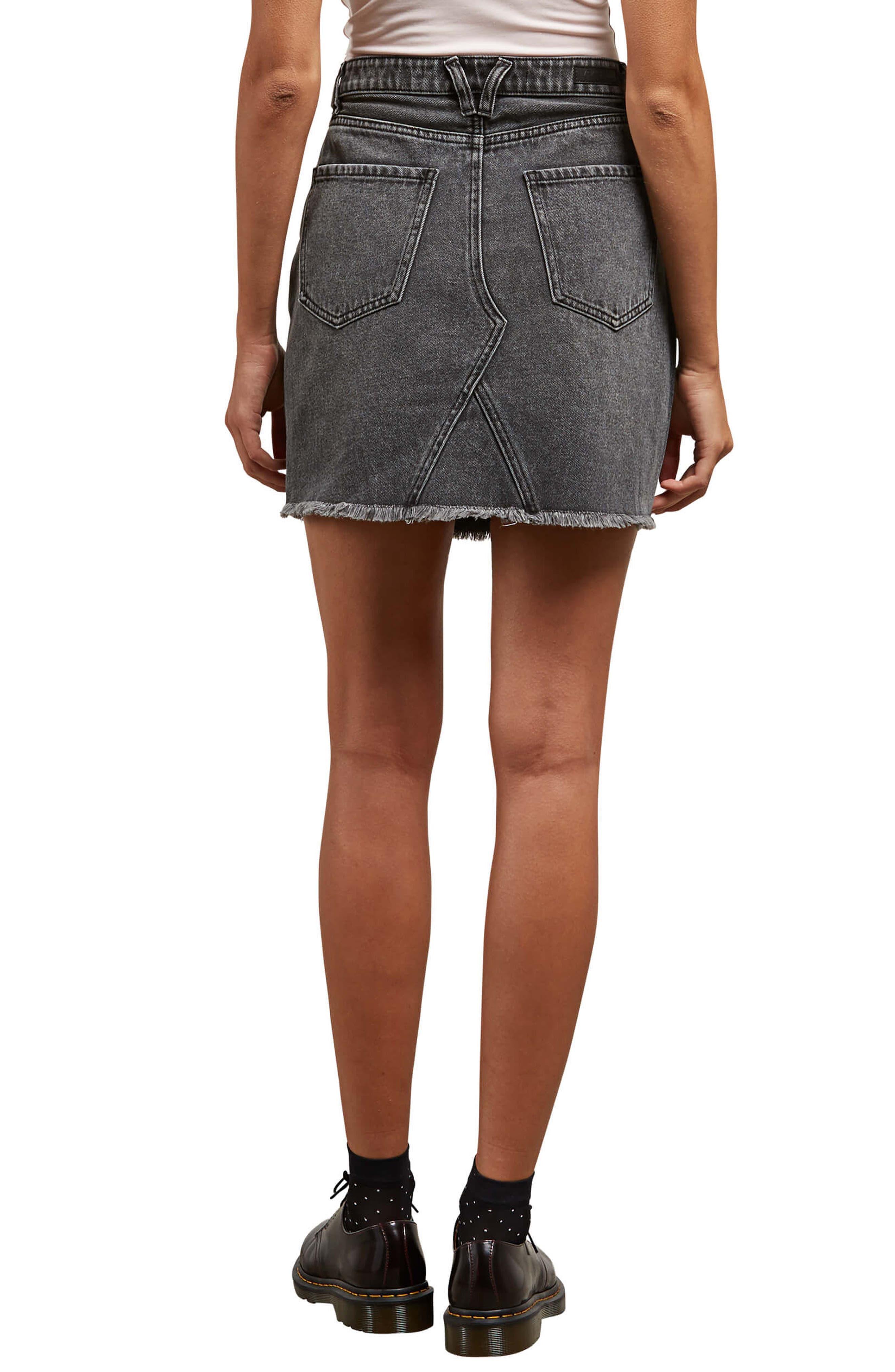 Alternate Image 2  - Volcom Stoned Denim Skirt