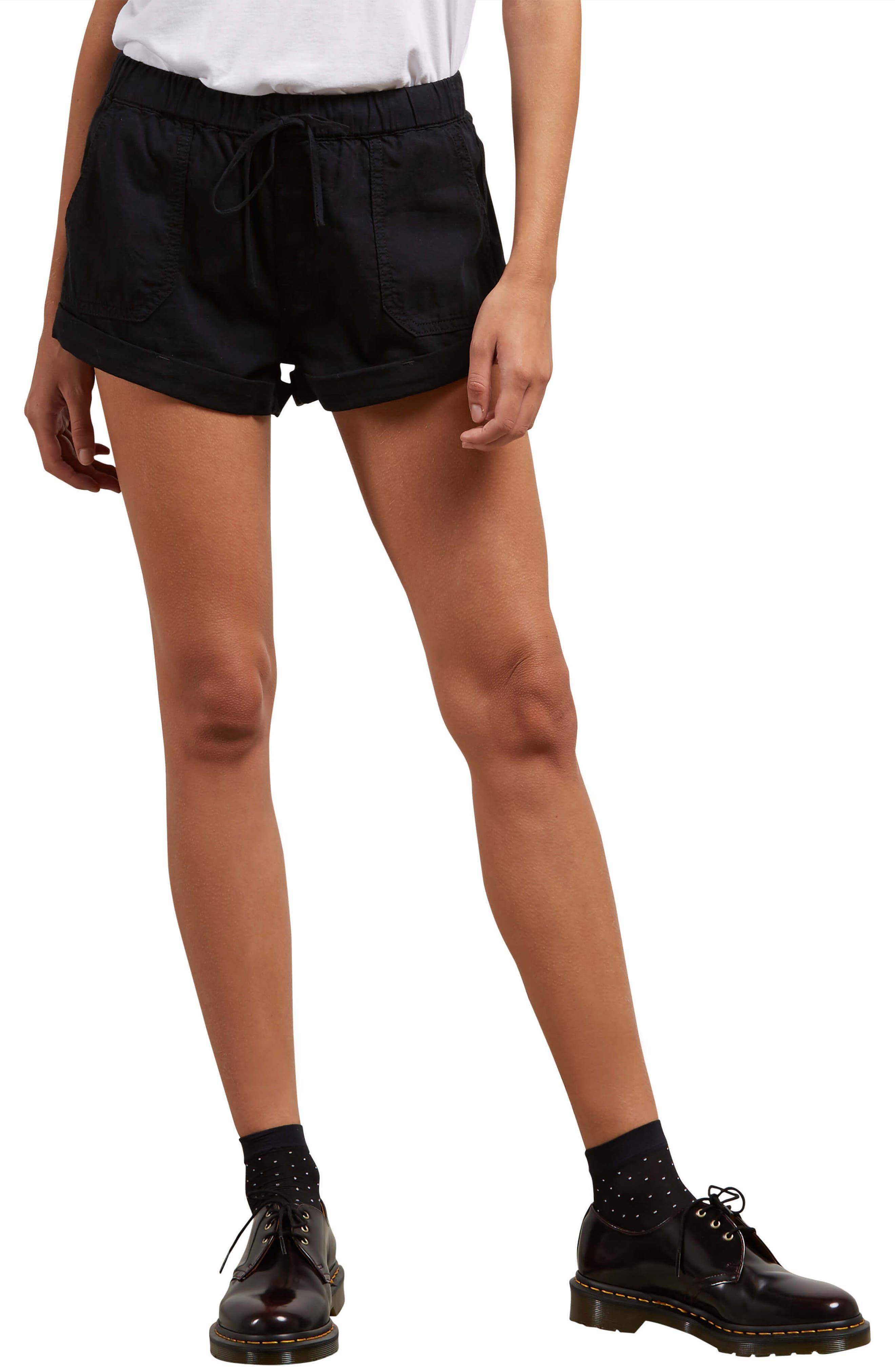 Sunday Strut Shorts,                             Main thumbnail 1, color,                             Black